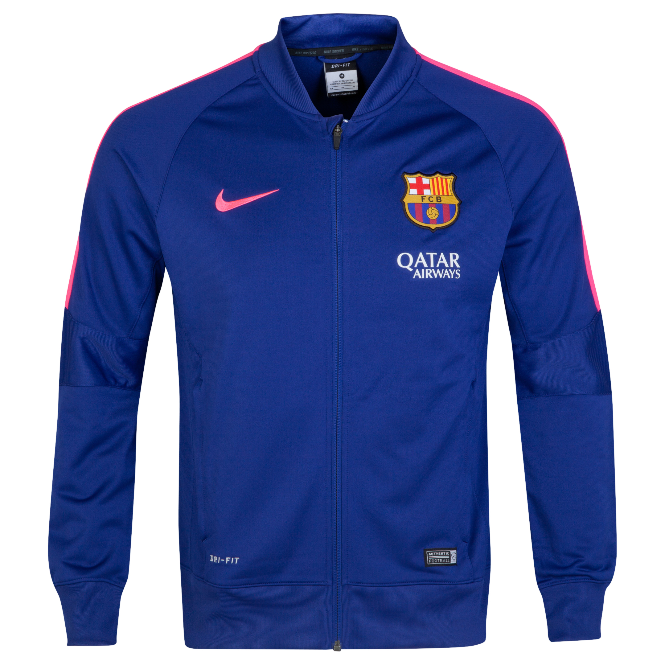 Barcelona Squad Sideline Knit Jacket Royal Blue