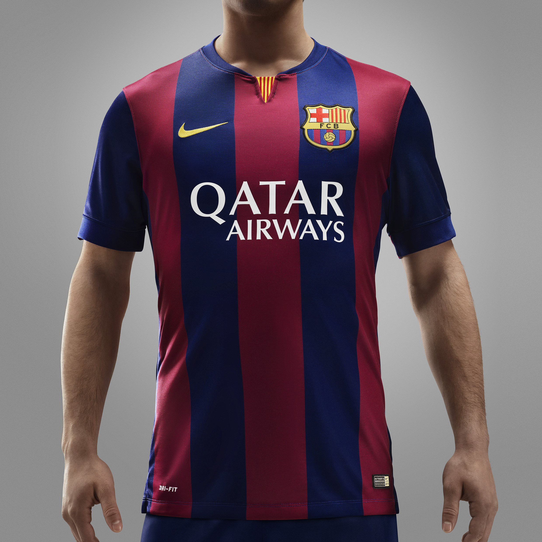Barcelona Home Shirt 2014/15 - Kids Blue
