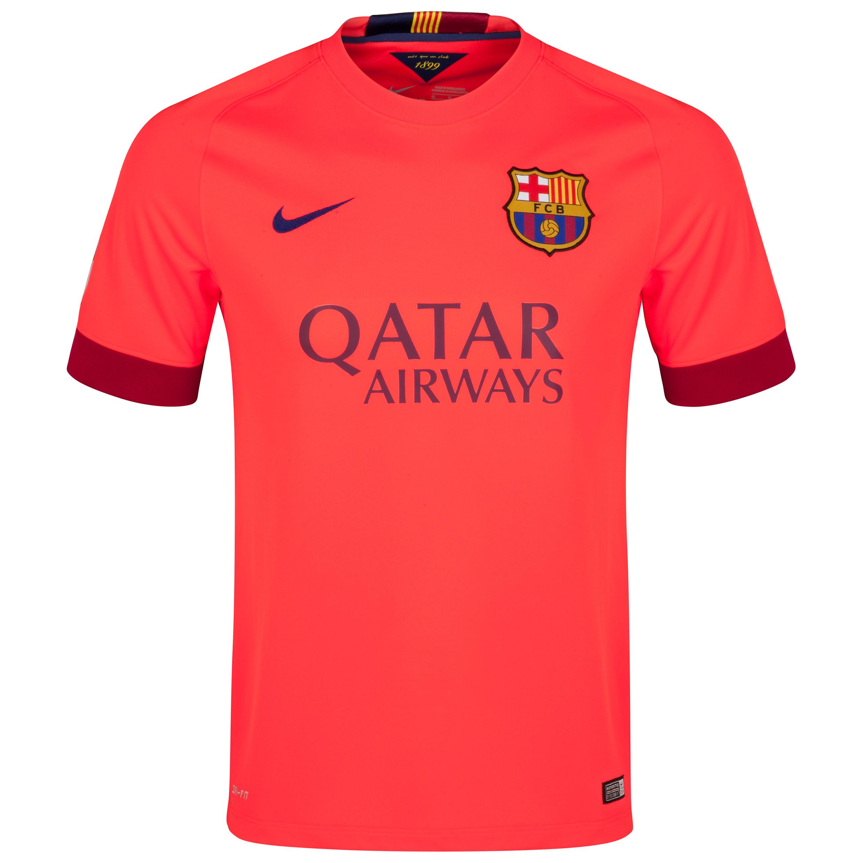 Barcelona Away Shirt 2014/15 - Kids Red