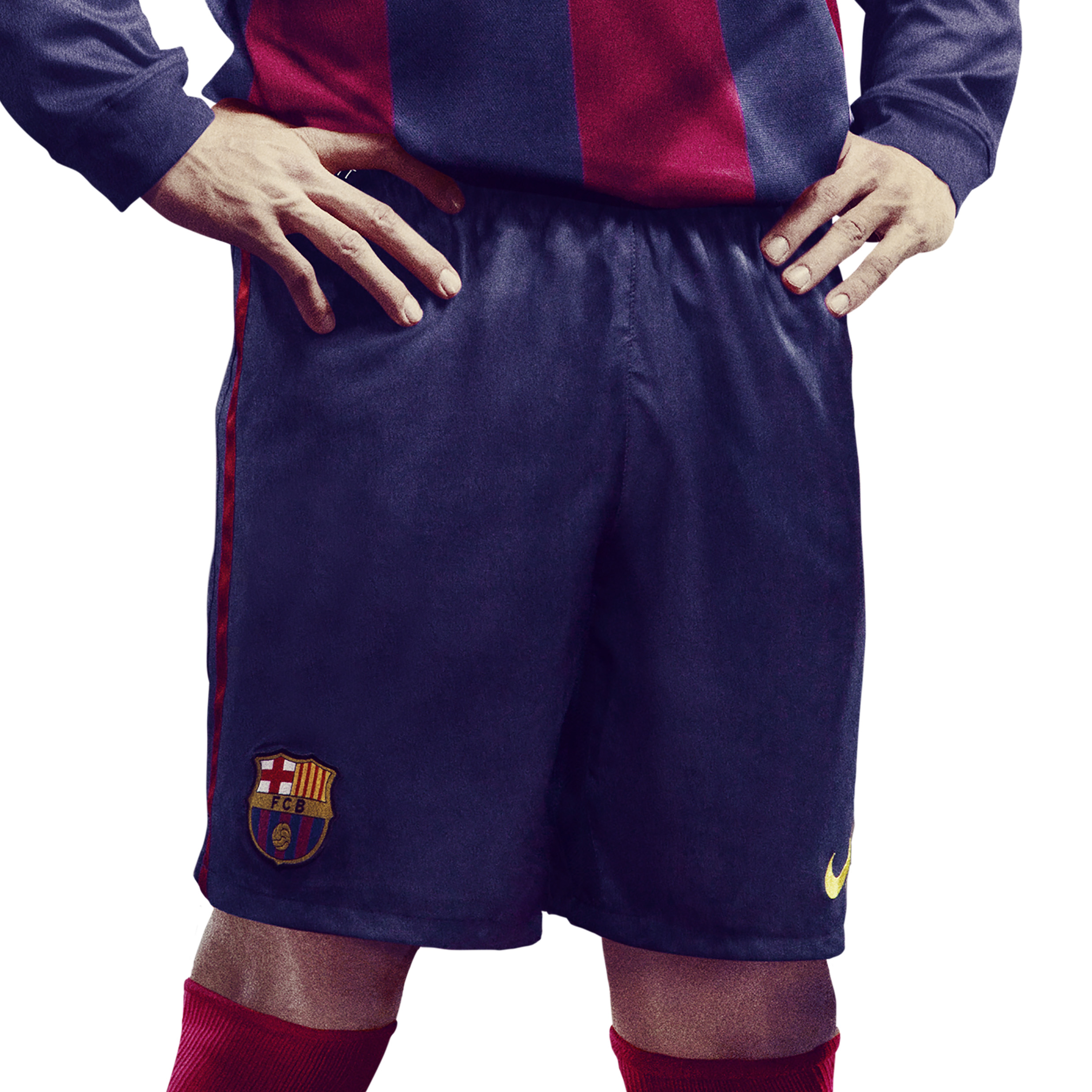 Barcelona Home Shorts 2014/15 - Kids Blue