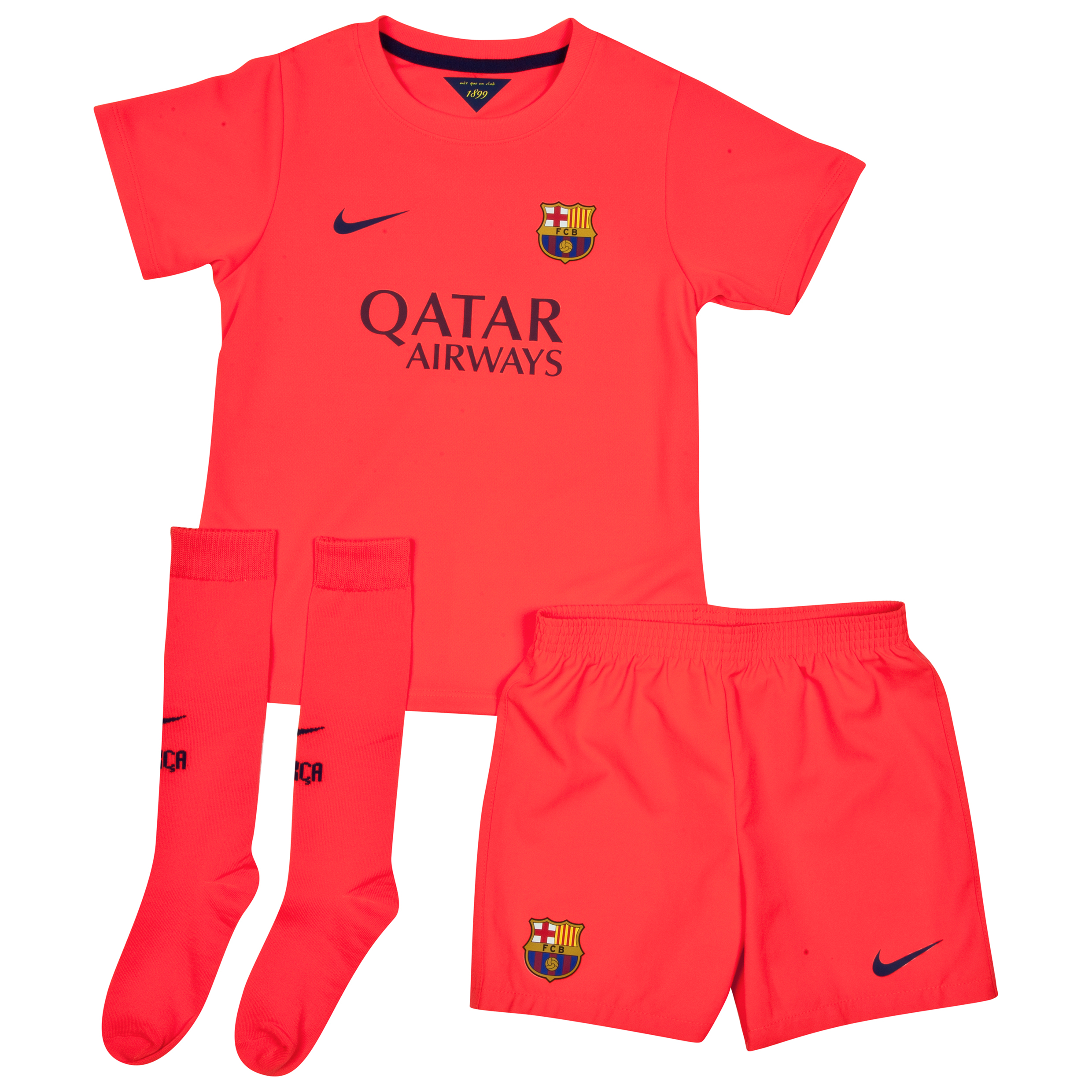 Barcelona Away Kit 2014/15 - Little Boys Red