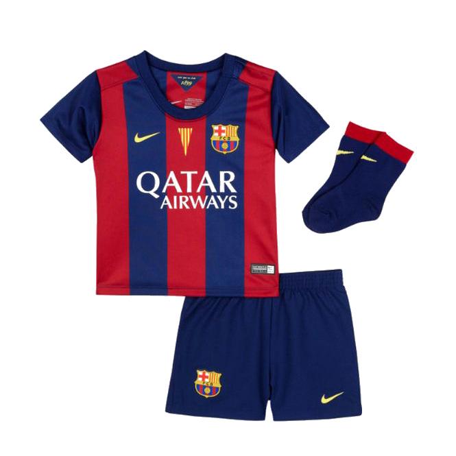 Barcelona Home Kit 2014/15 - Infants Blue