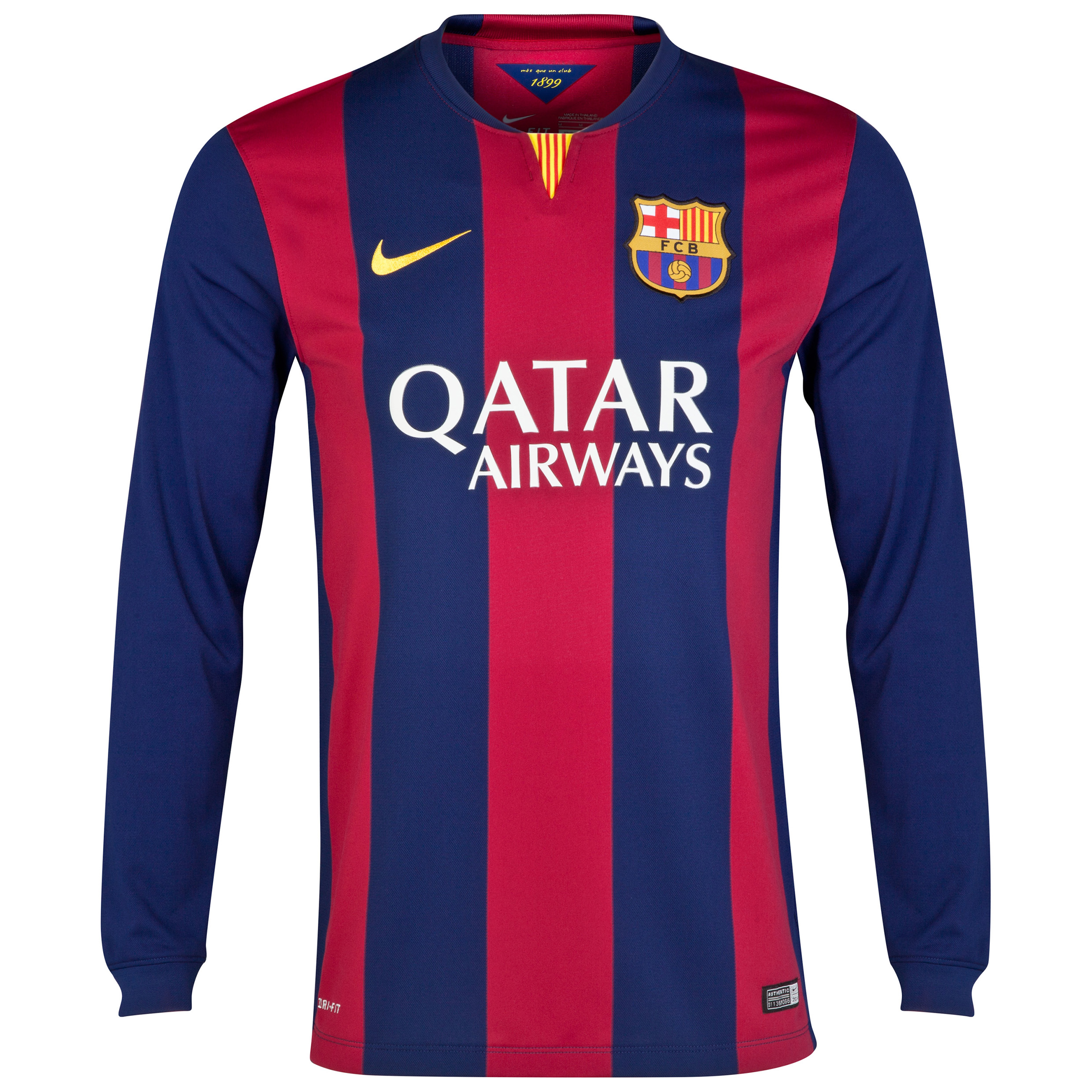 Barcelona Home Shirt 2014/15 - Long Sleeve Blue