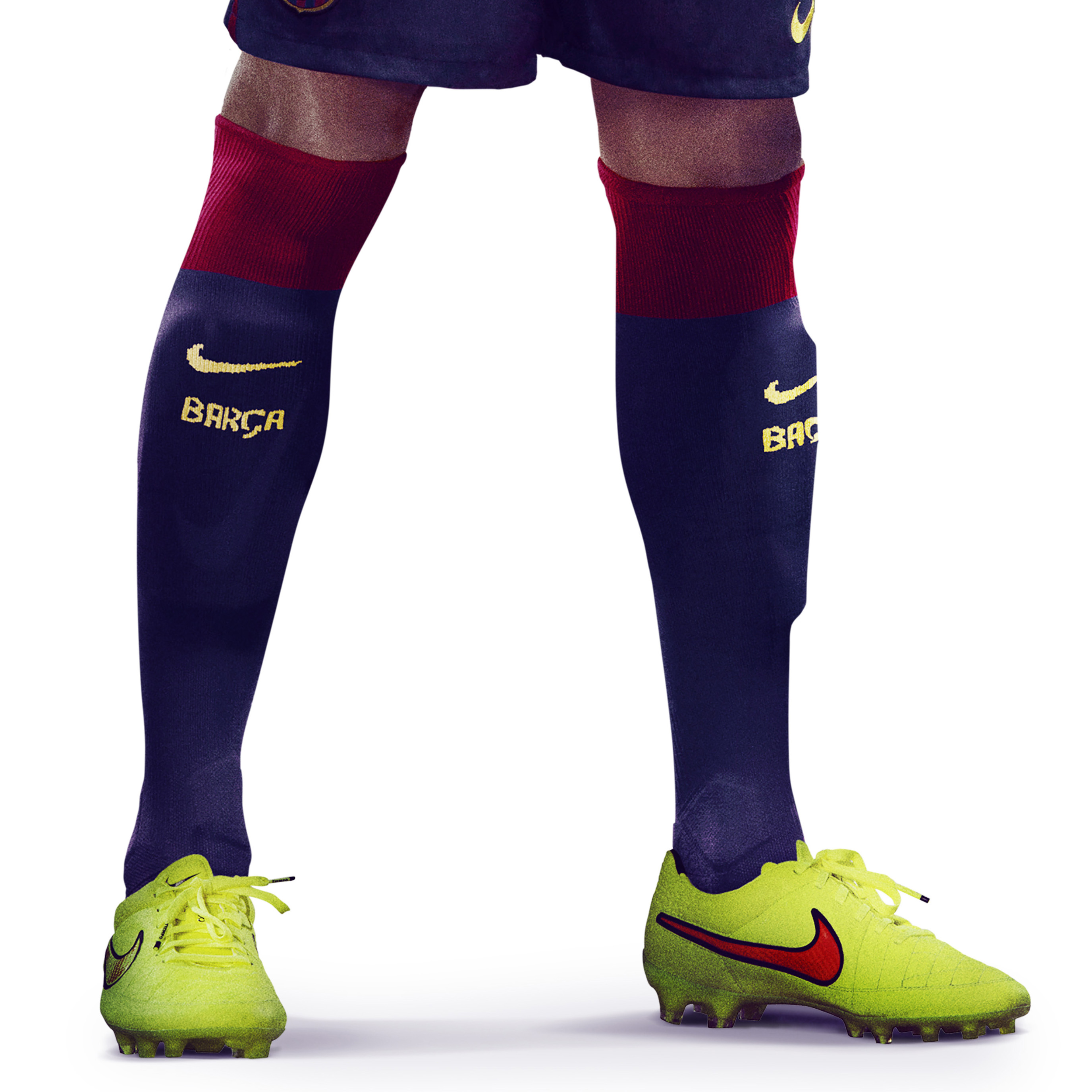 Barcelona Home Socks 2014/15 Blue
