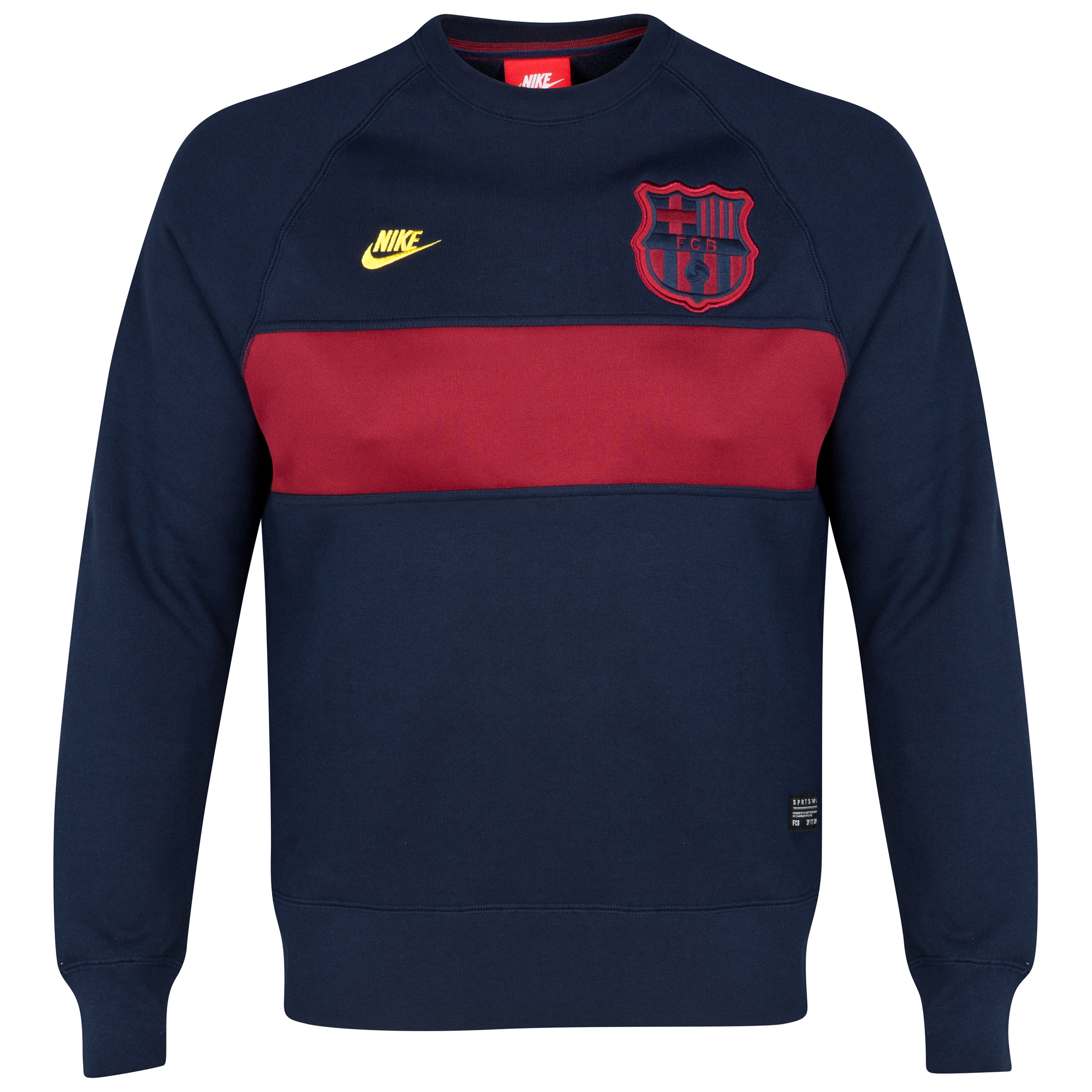 Barcelona Covert AW77 Crew Sweatshirt Navy