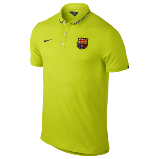 Barcelona League Authentic Polo Yellow