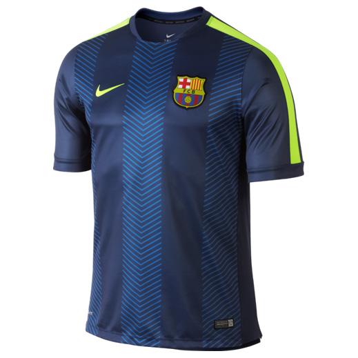 Barcelona Squad Short Sleeve Pre Match Top