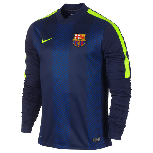 Barcelona Squad Long Sleeve Thermal Pre Match Top