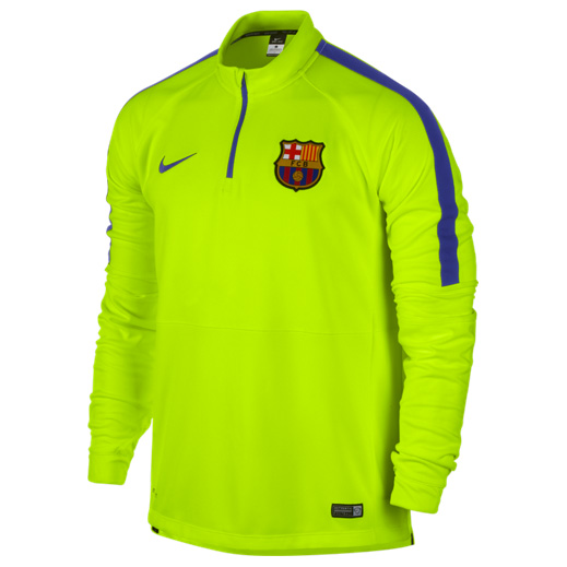 Barcelona Squad Long Sleeve Midlayer Top Yellow