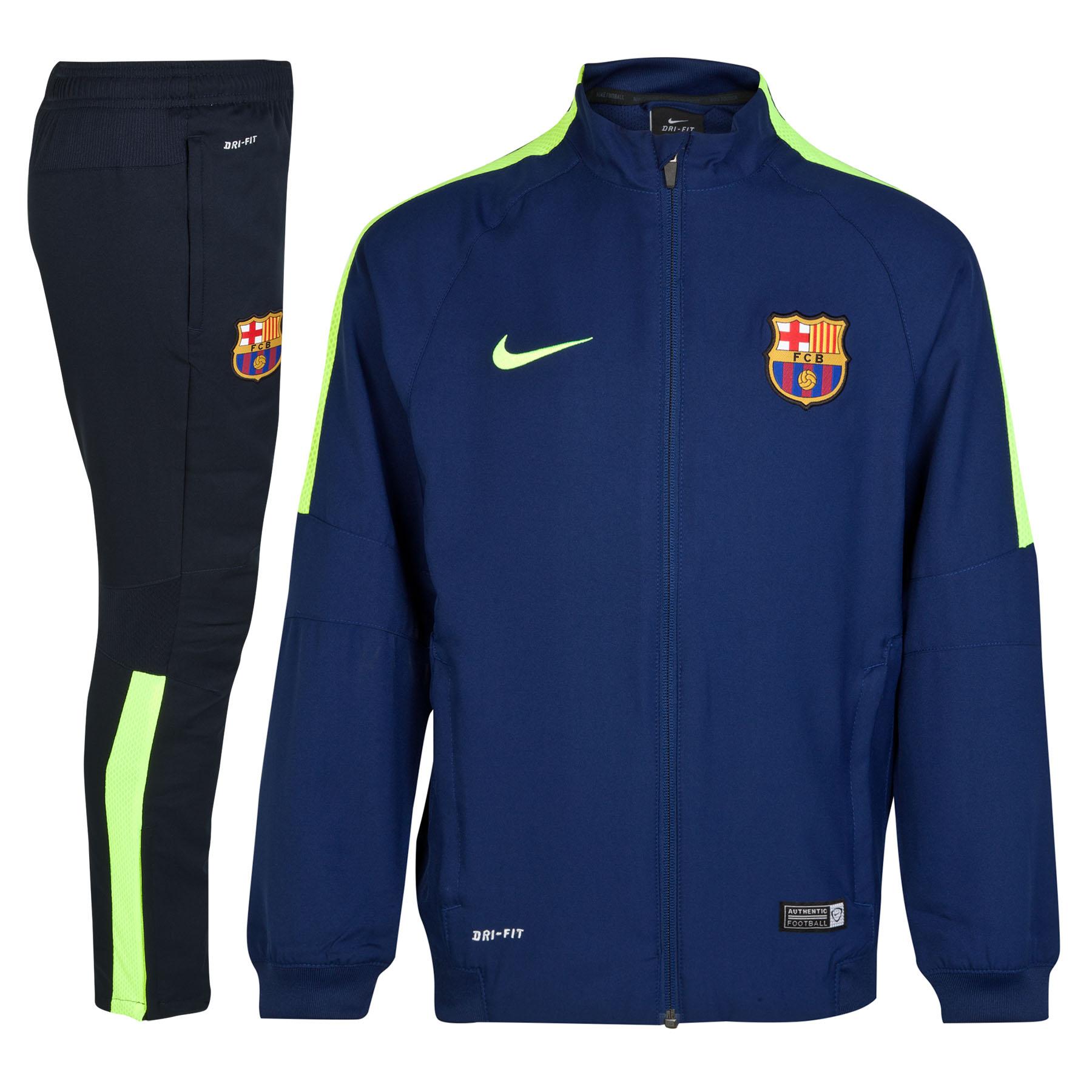 Barcelona Squad Sideline Woven Warm Up Tracksuit - Kids