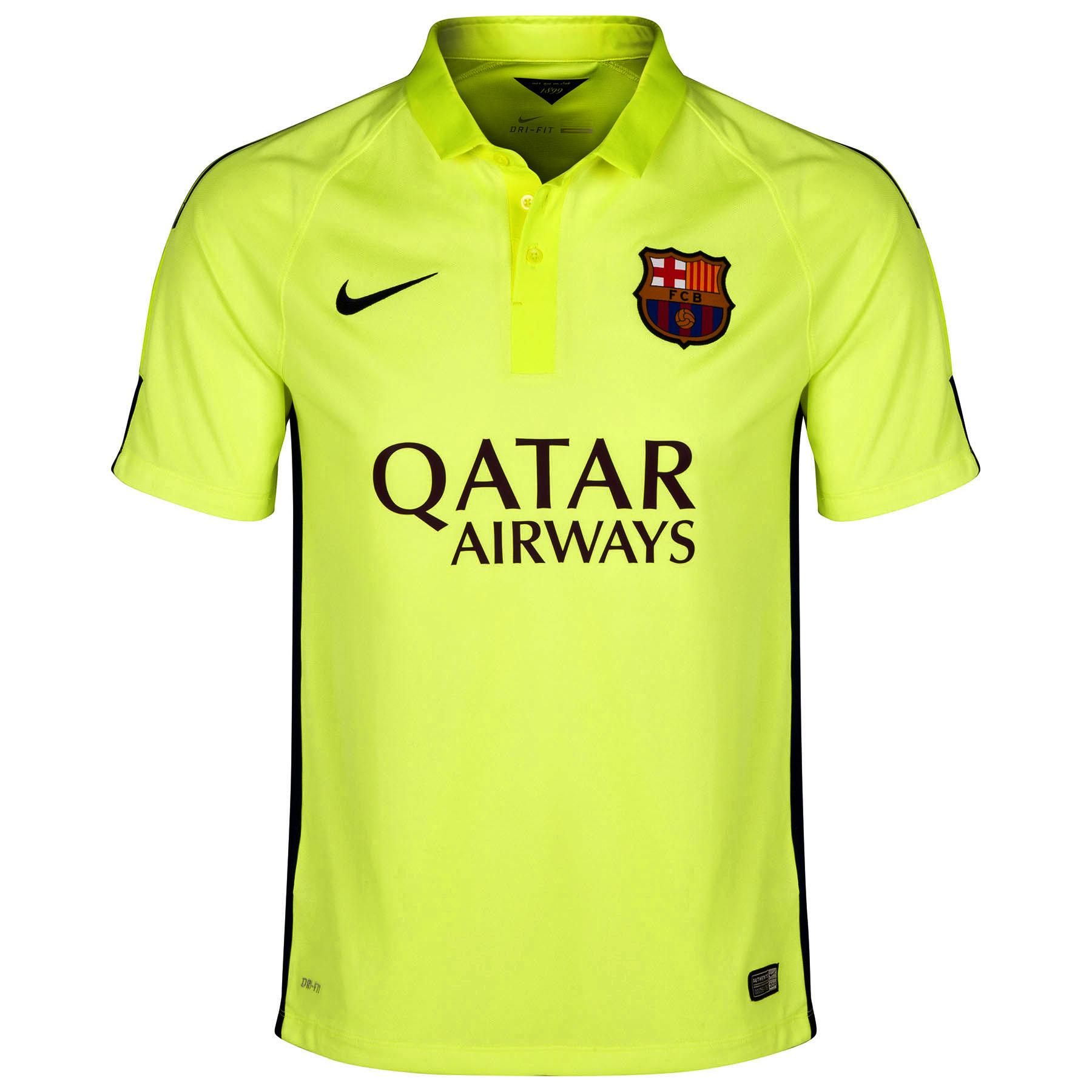 Barcelona Third Shirt 2014/15 Yellow
