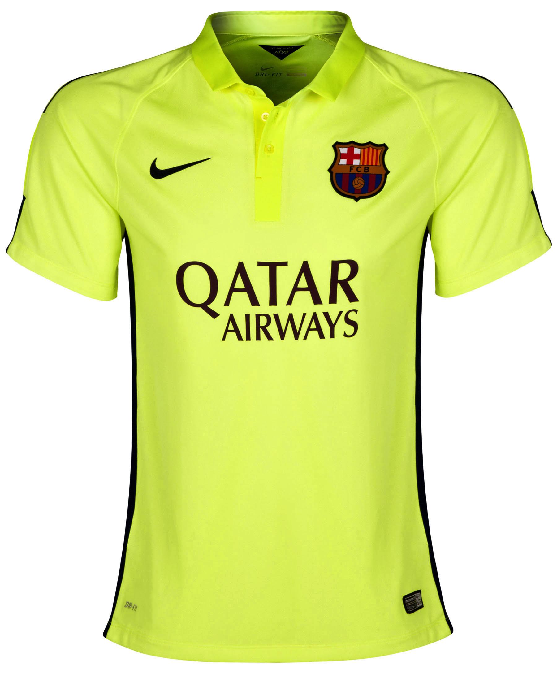 Barcelona Third Shirt 2014/15 - Womens Yellow