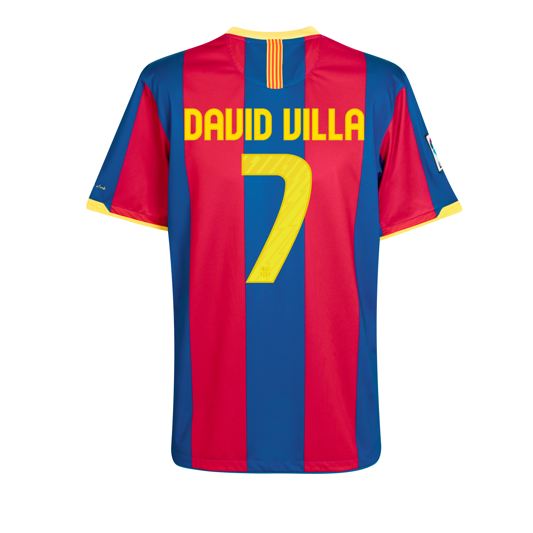 Barcelona Home Shirt 2010/11 with David Villa 7 printing