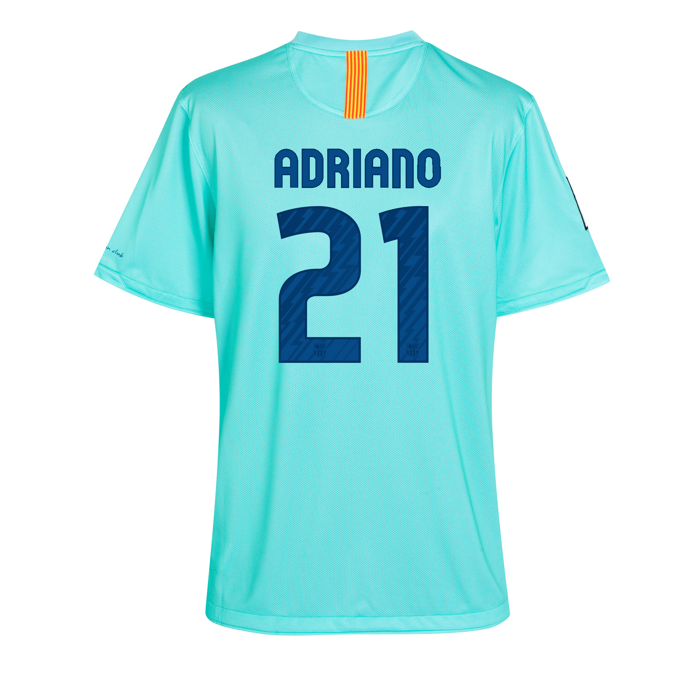 Barcelona Away Shirt 2010/11 with Adriano 21 printing - Kids