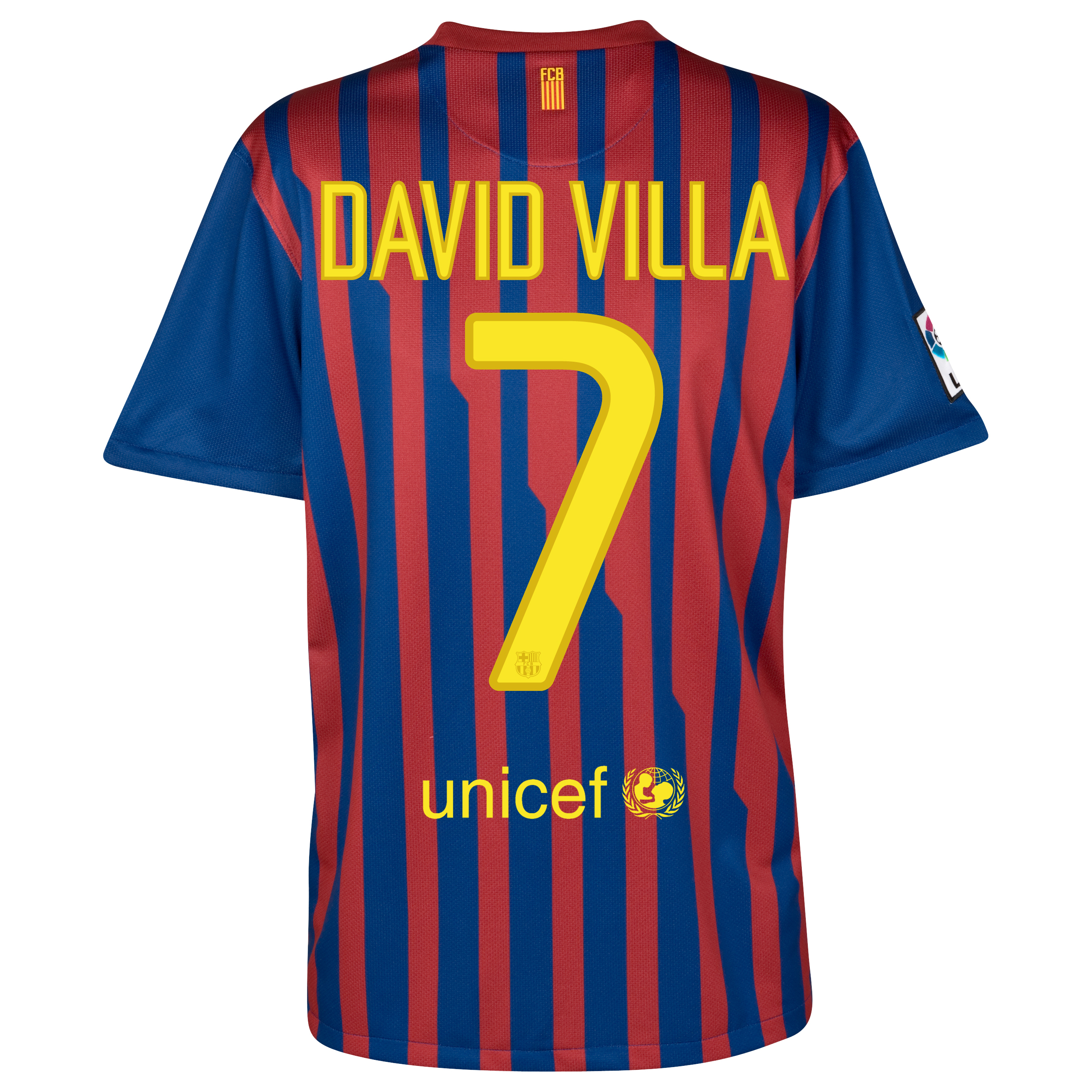 Barcelona Home Shirt 2011/12 with David Villa 7 printing