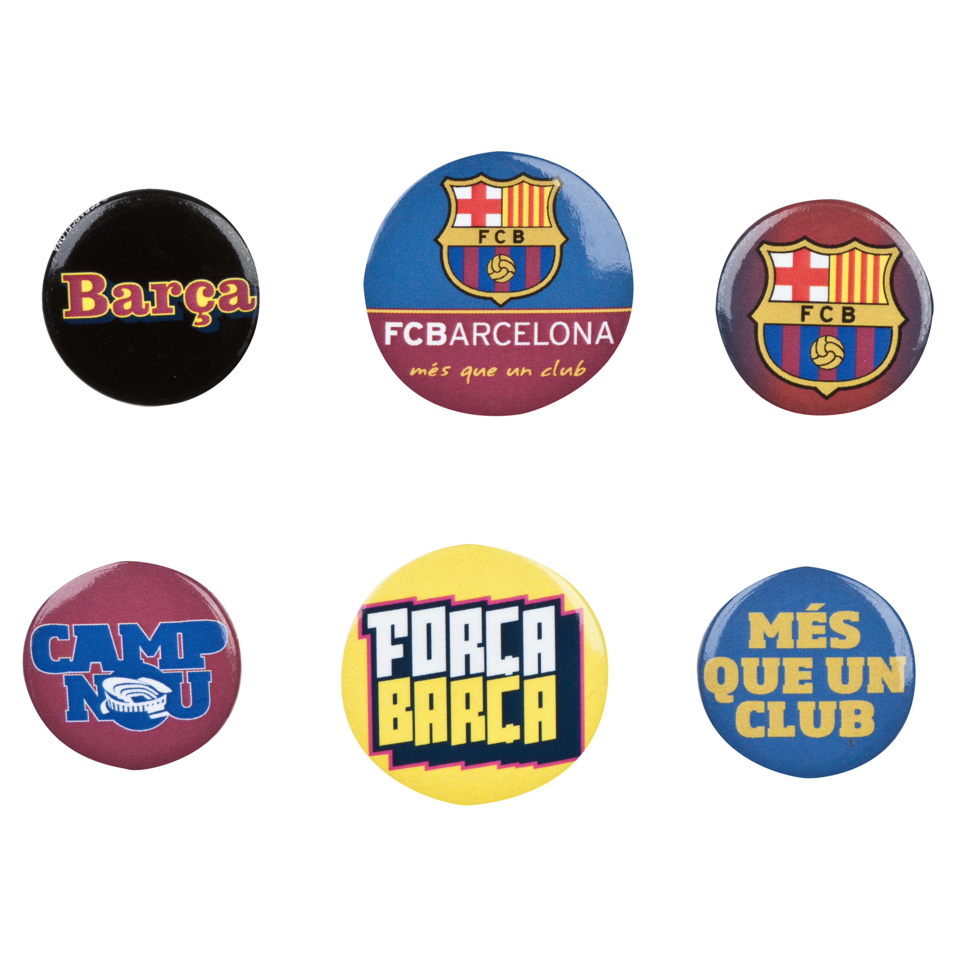 Barcelona Badge Set - 6 Pack