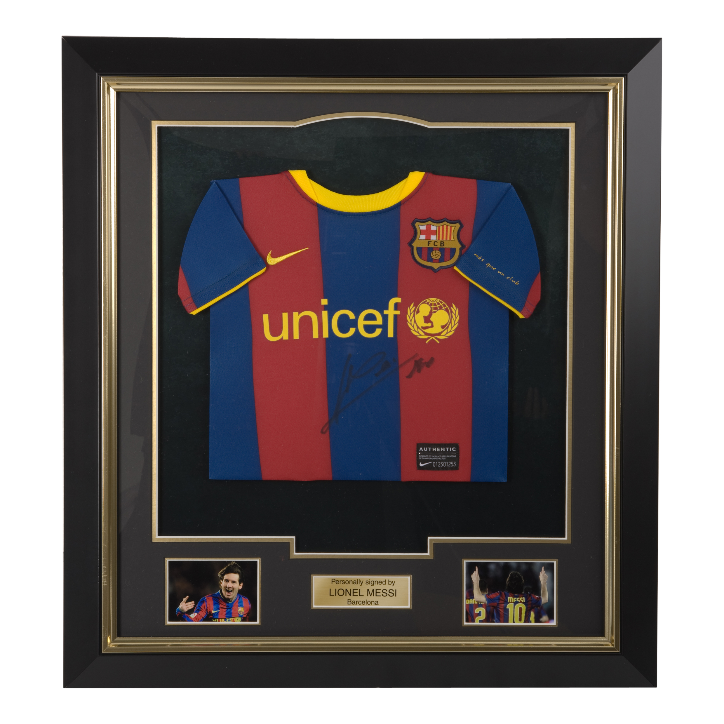 Barcelona Signed Messi Mini Shirt - Framed