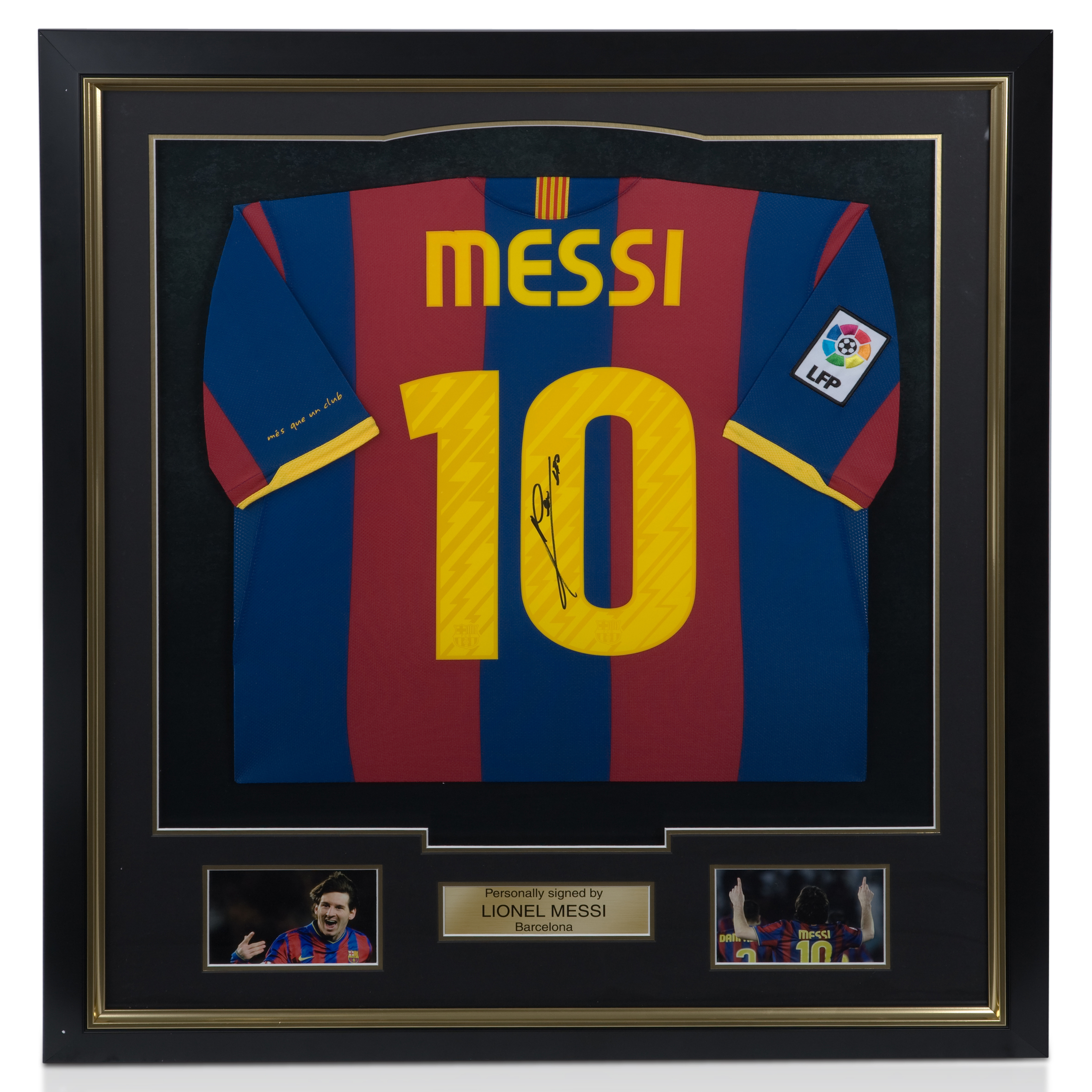 Barcelona Signed Messi Full Sized Shirt - Framed