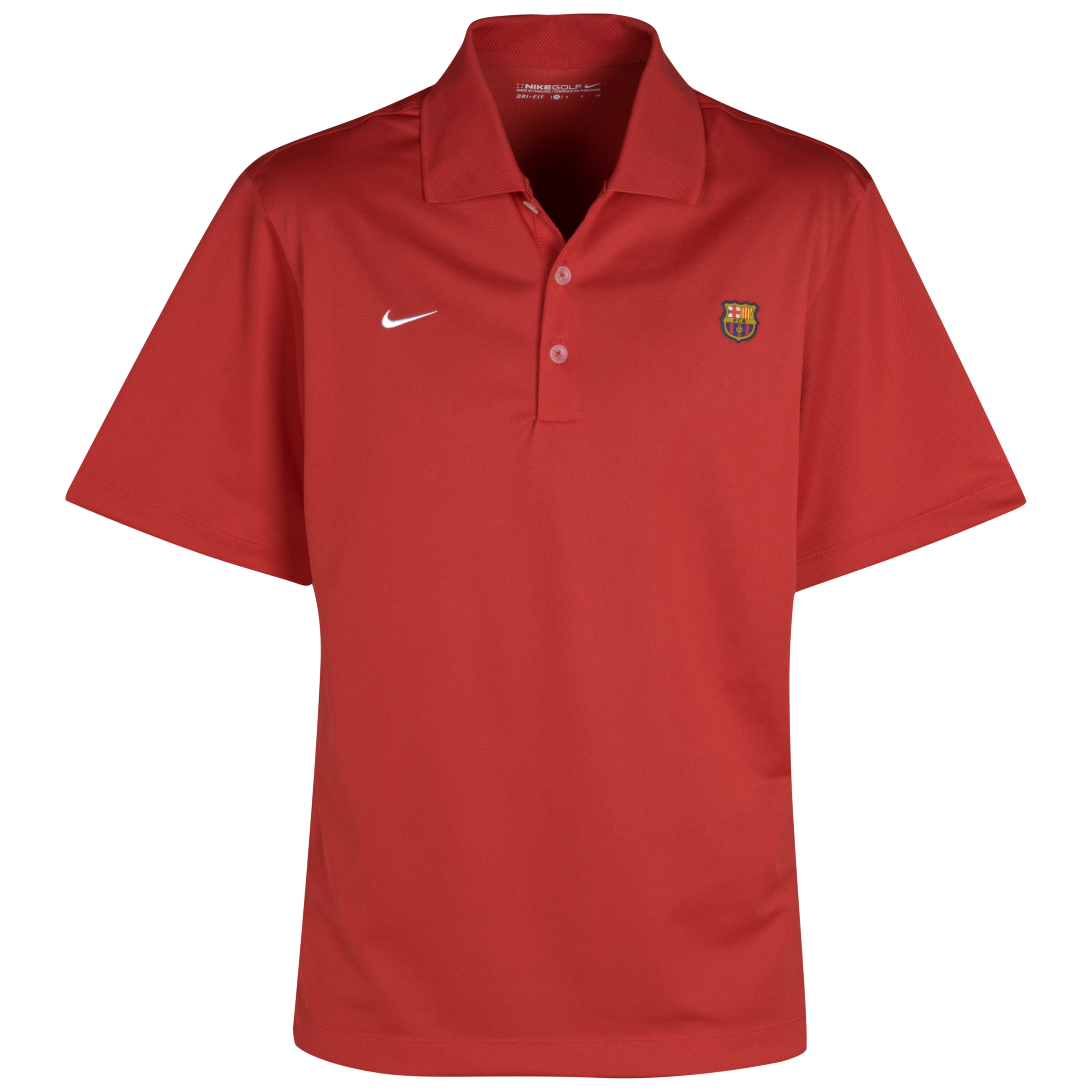 Barcelona Golf Tech Solid Polo - Red