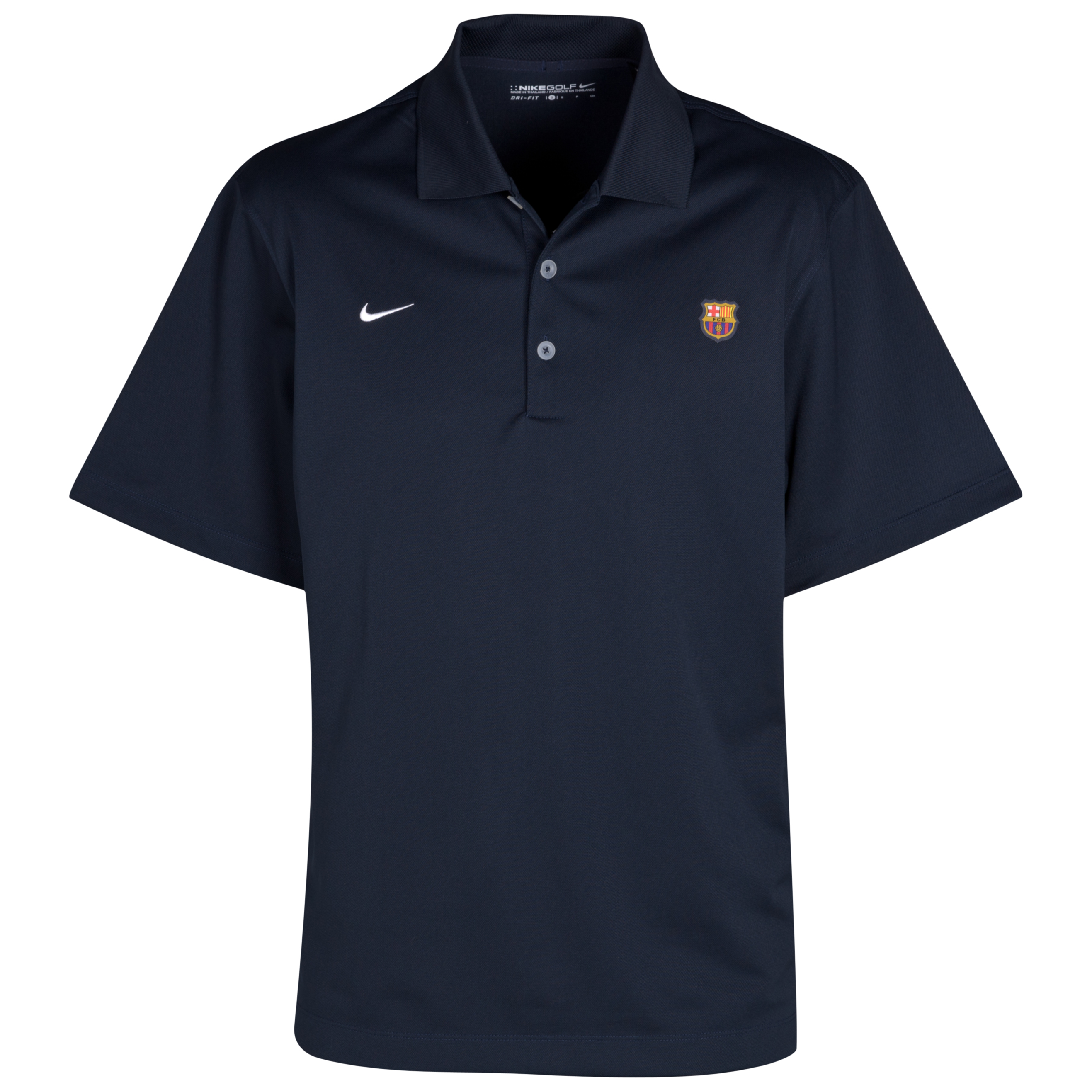 Barcelona Golf Tech Solid Polo - Navy