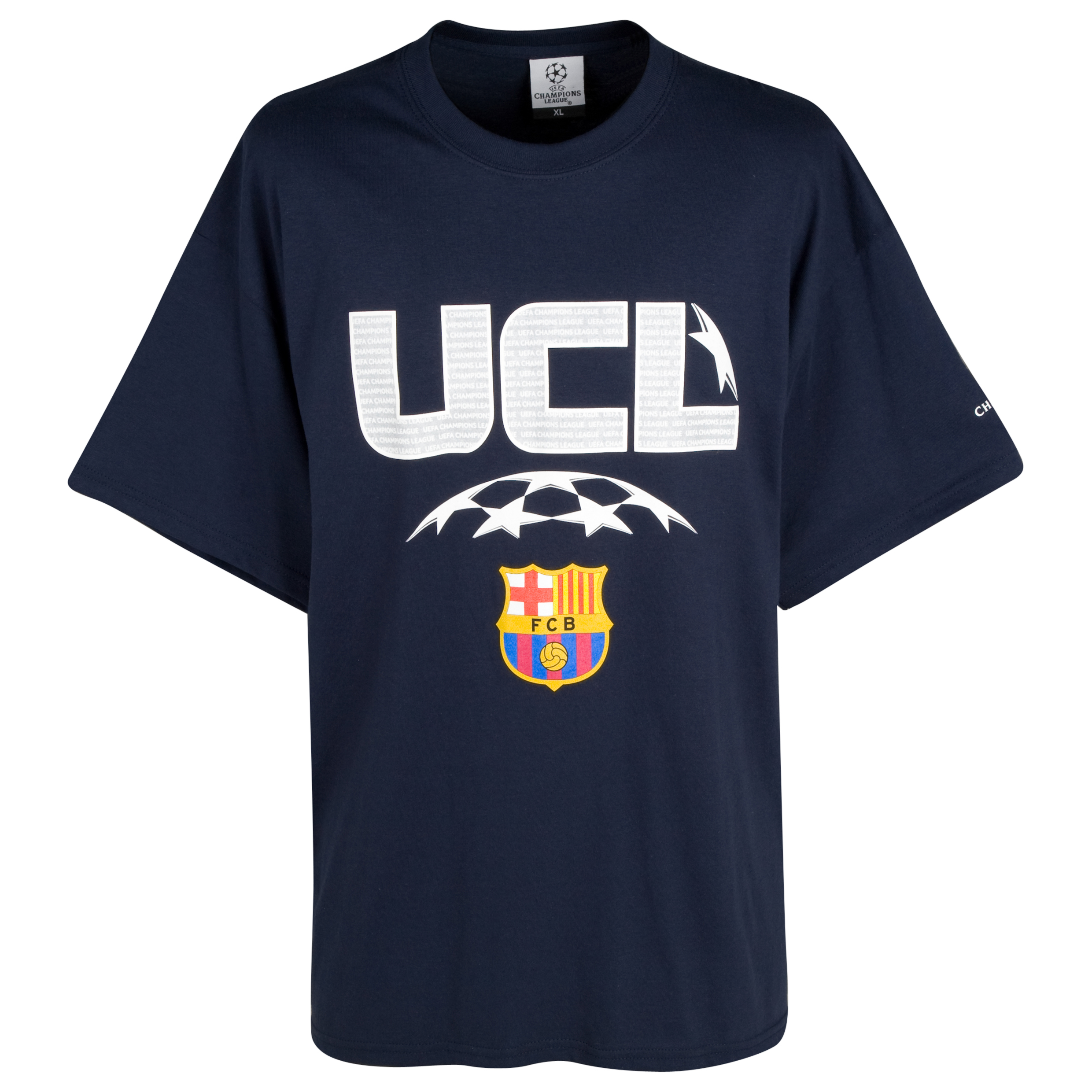 Barcelona Raised Print T-Shirt - Navy - Boys