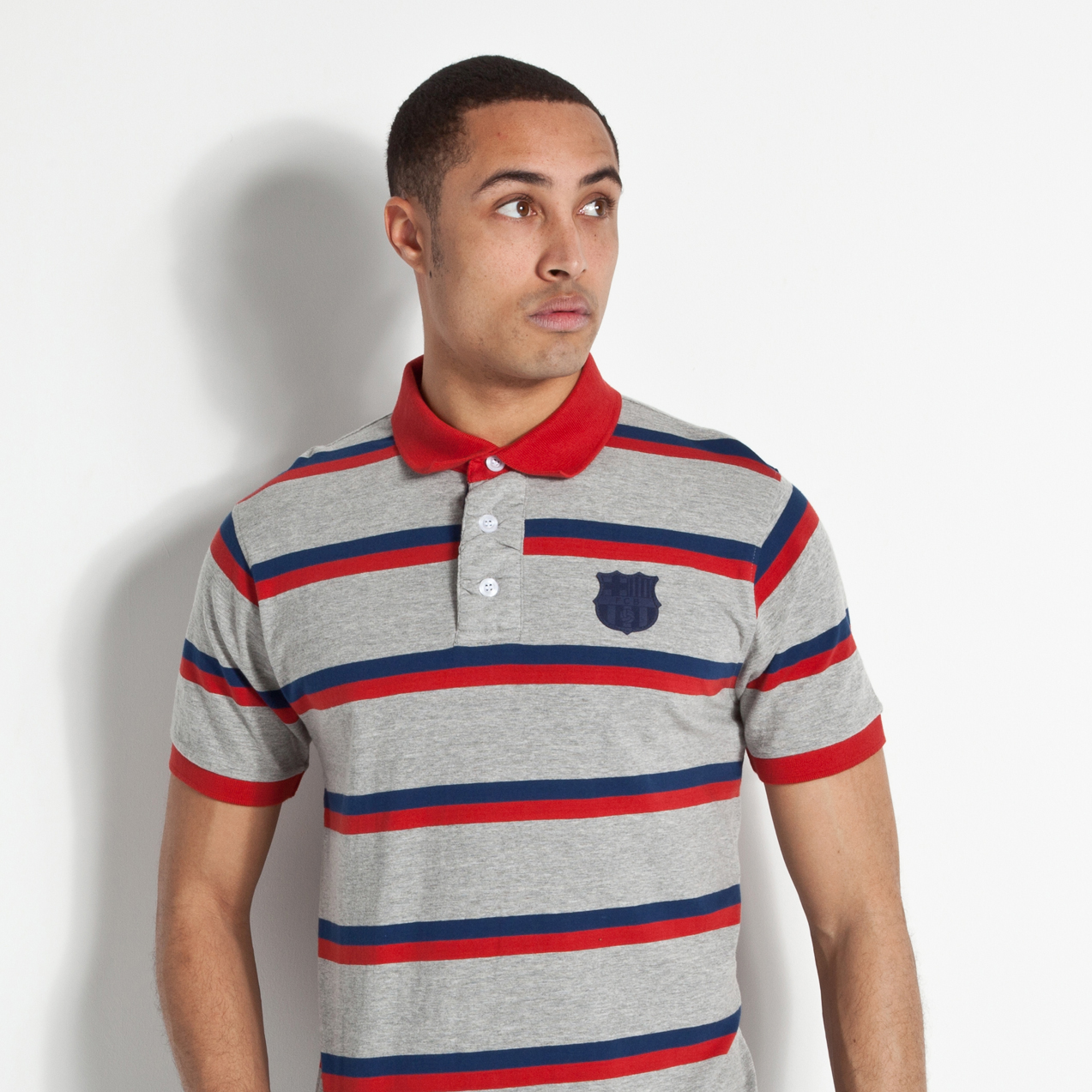 Barcelona Heritage Yarn Dye Polo - Grey Marl