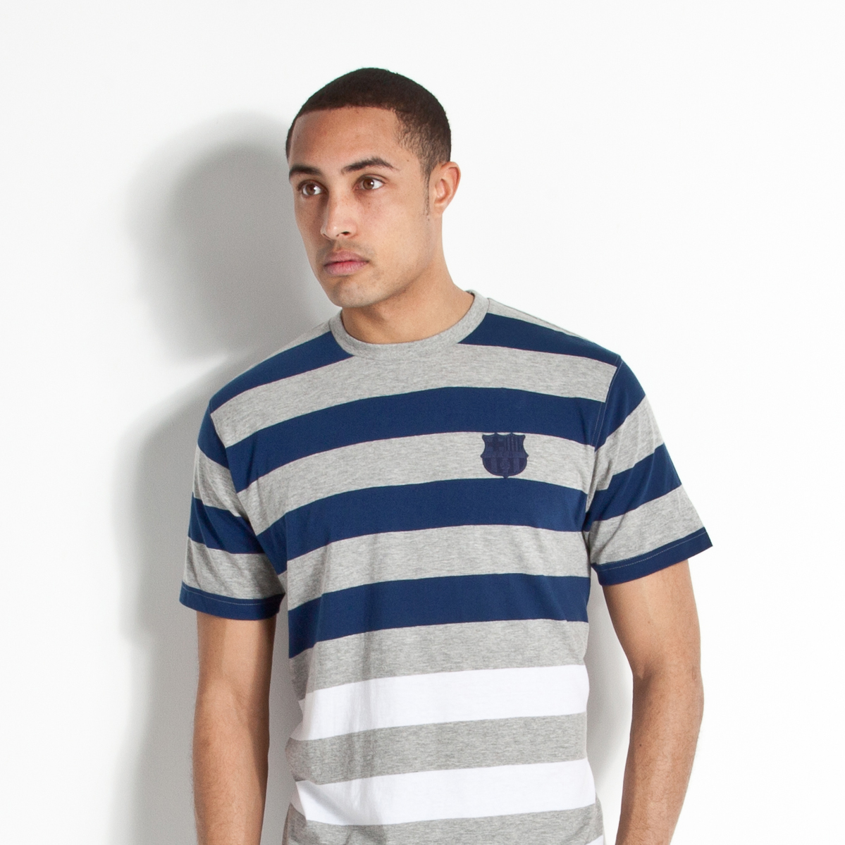 Barcelona Heritage Yarn Dye Stripe T-Shirt - Navy