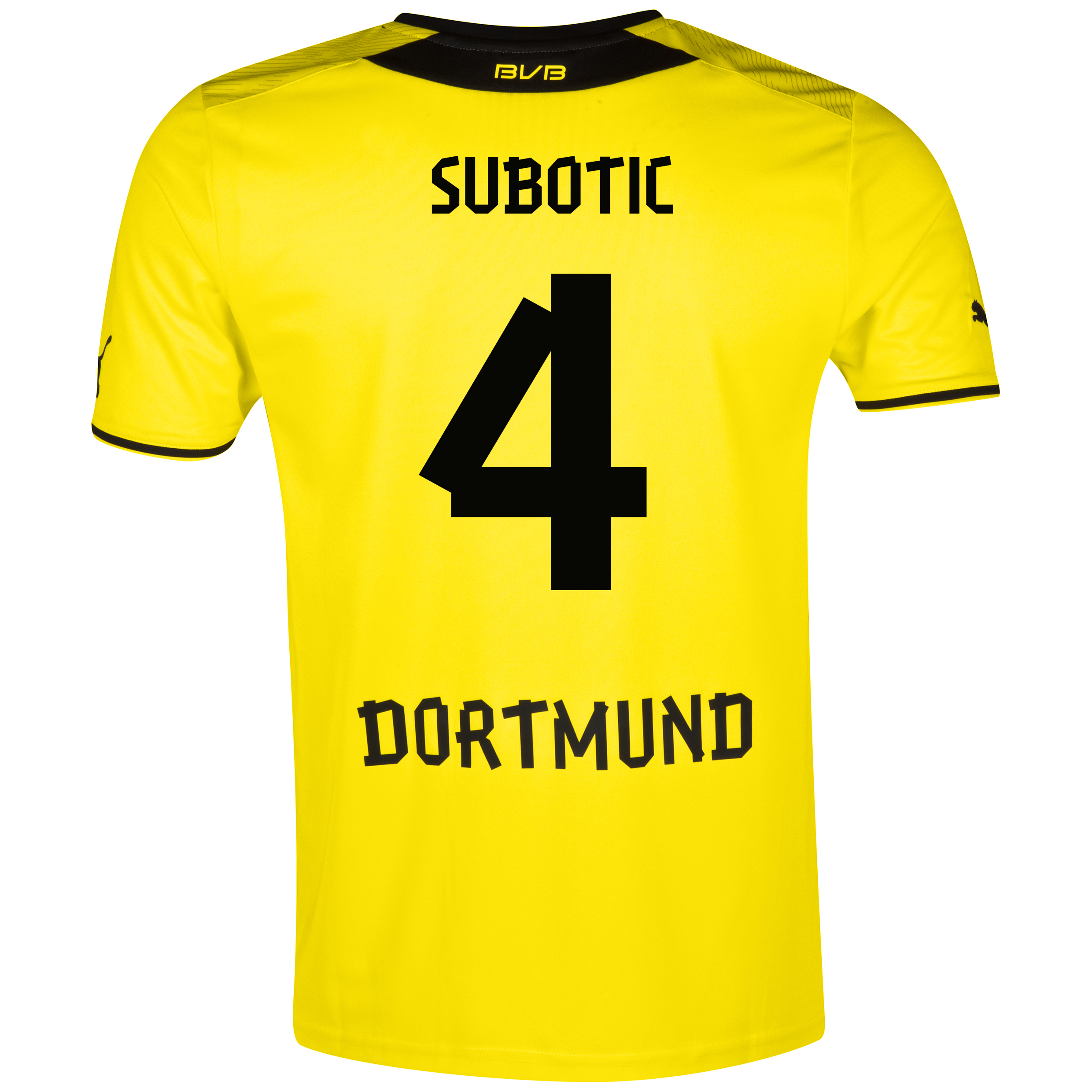 BVB Home Shirt 2013/14 with Subotic 4 printing