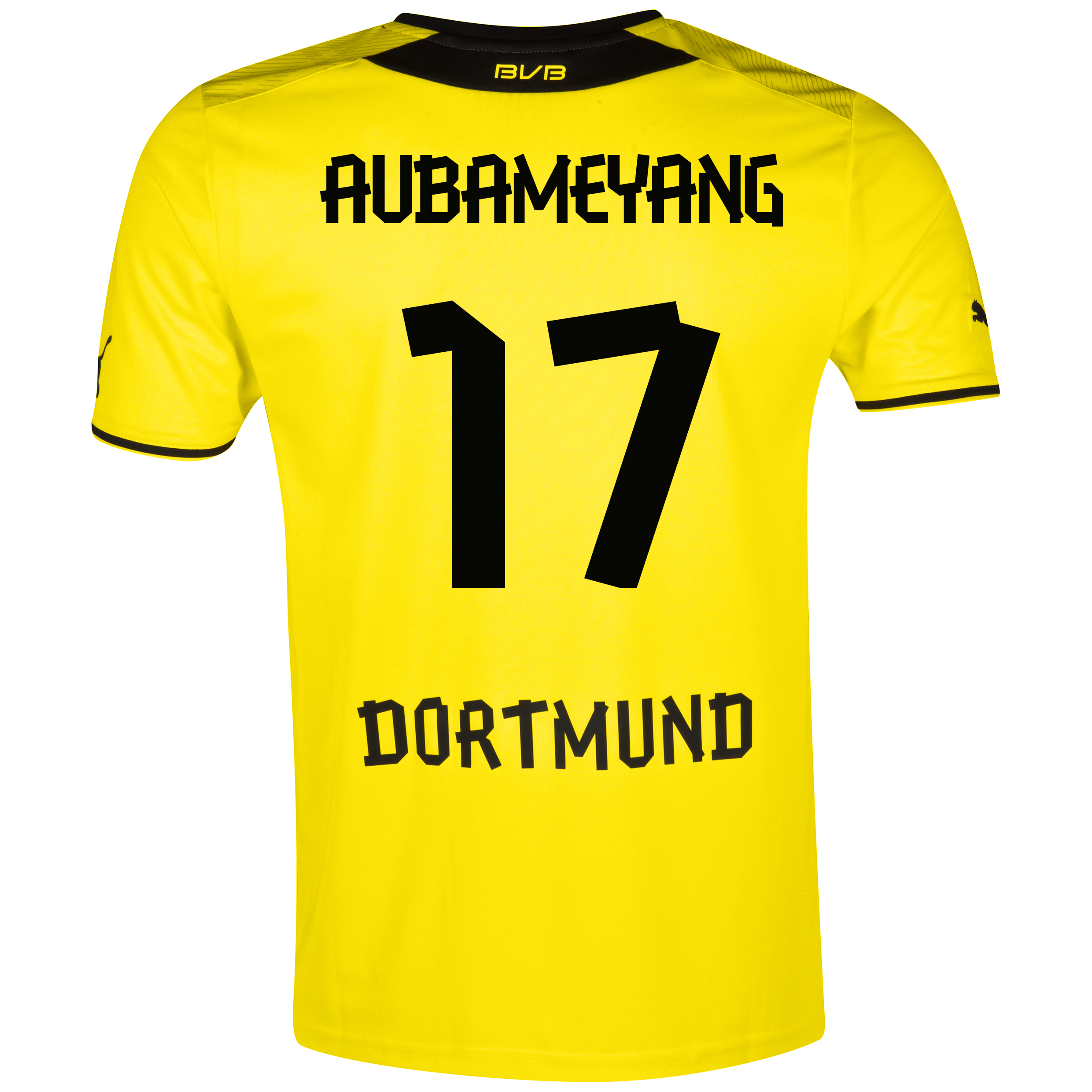 BVB Home Shirt 2013/14 with Aubameyang 17 printing