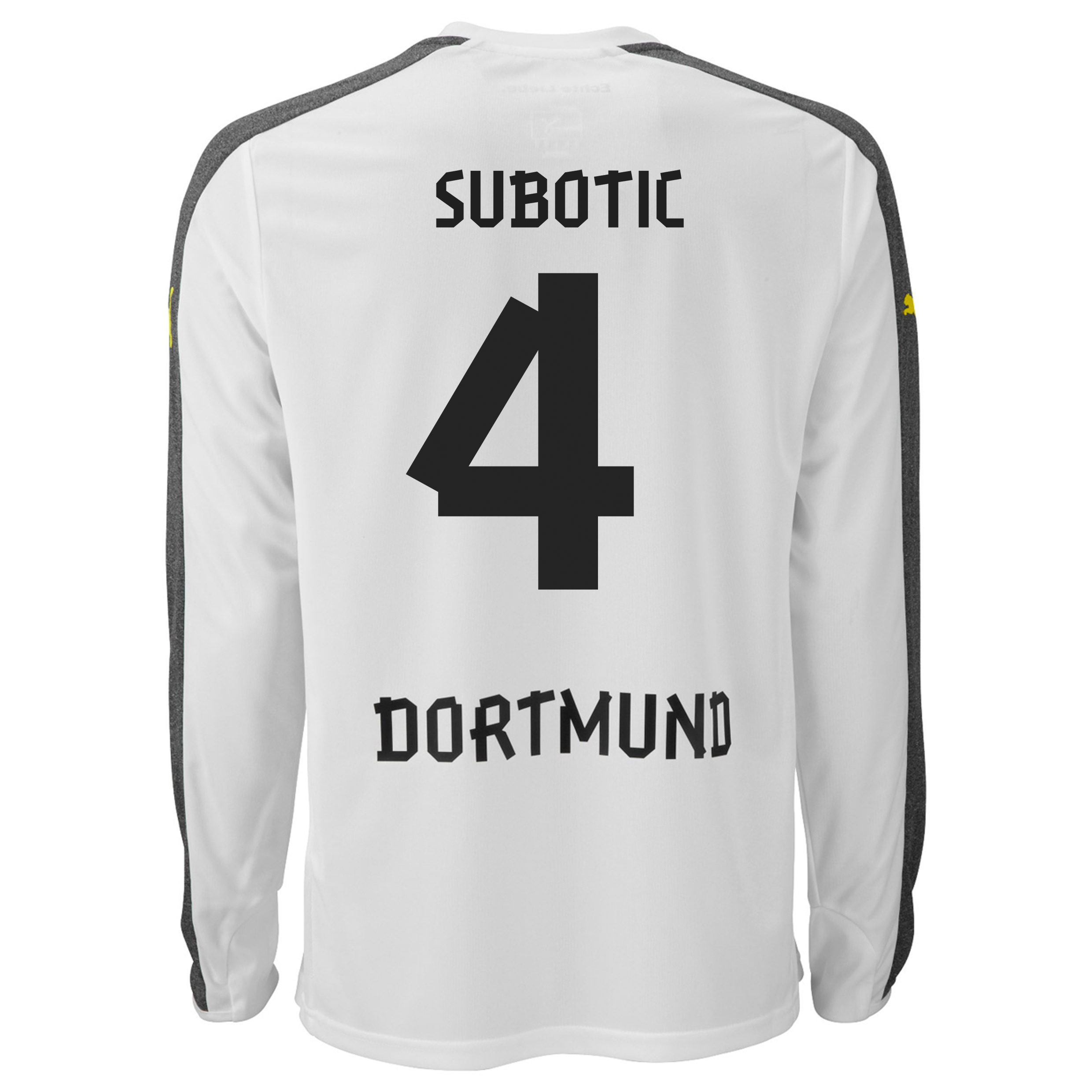 BVB Third Shirt 2013/14 - Long Sleeve with Subotic 4 printing