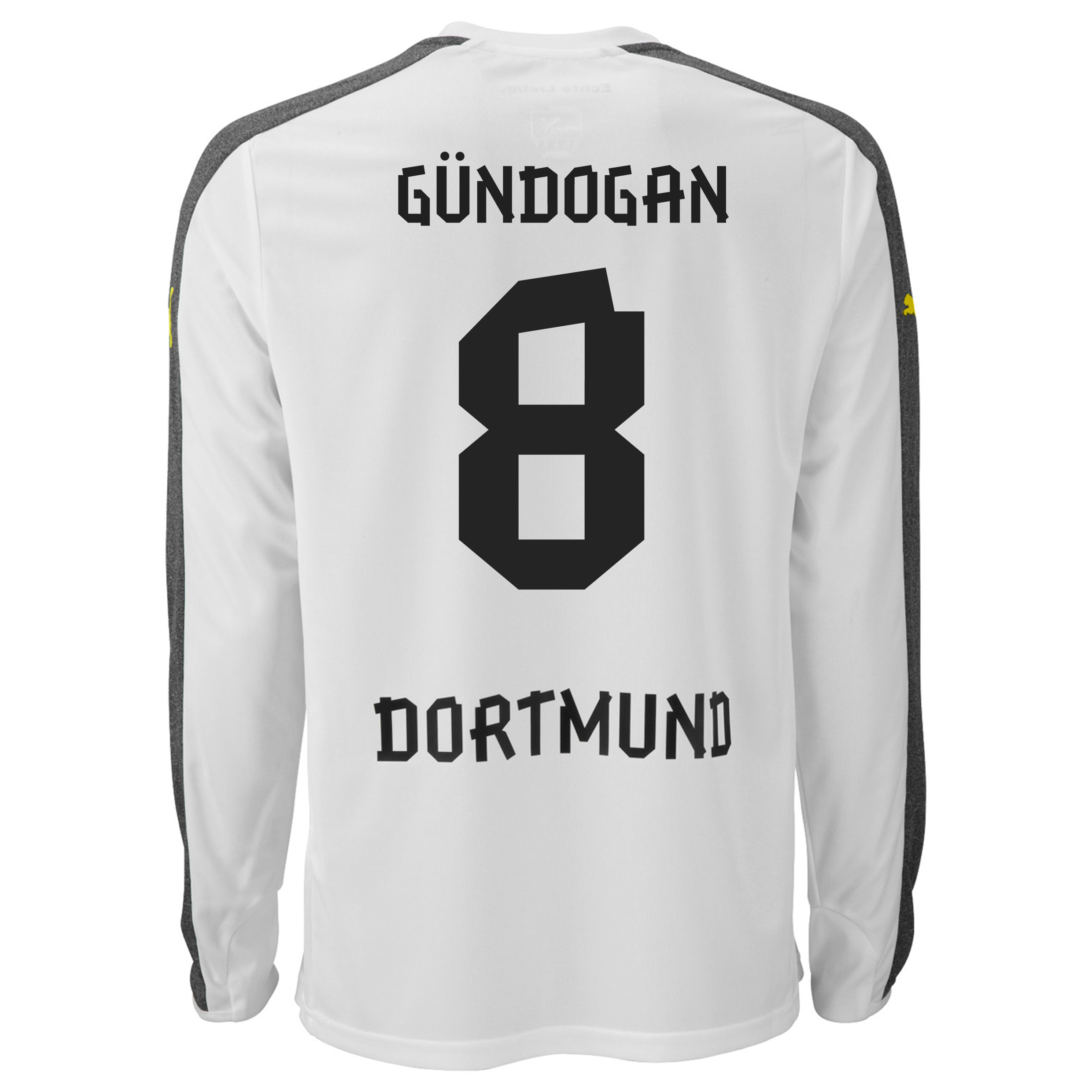 BVB Third Shirt 2013/14 - Long Sleeve with Gündogan 8 printing