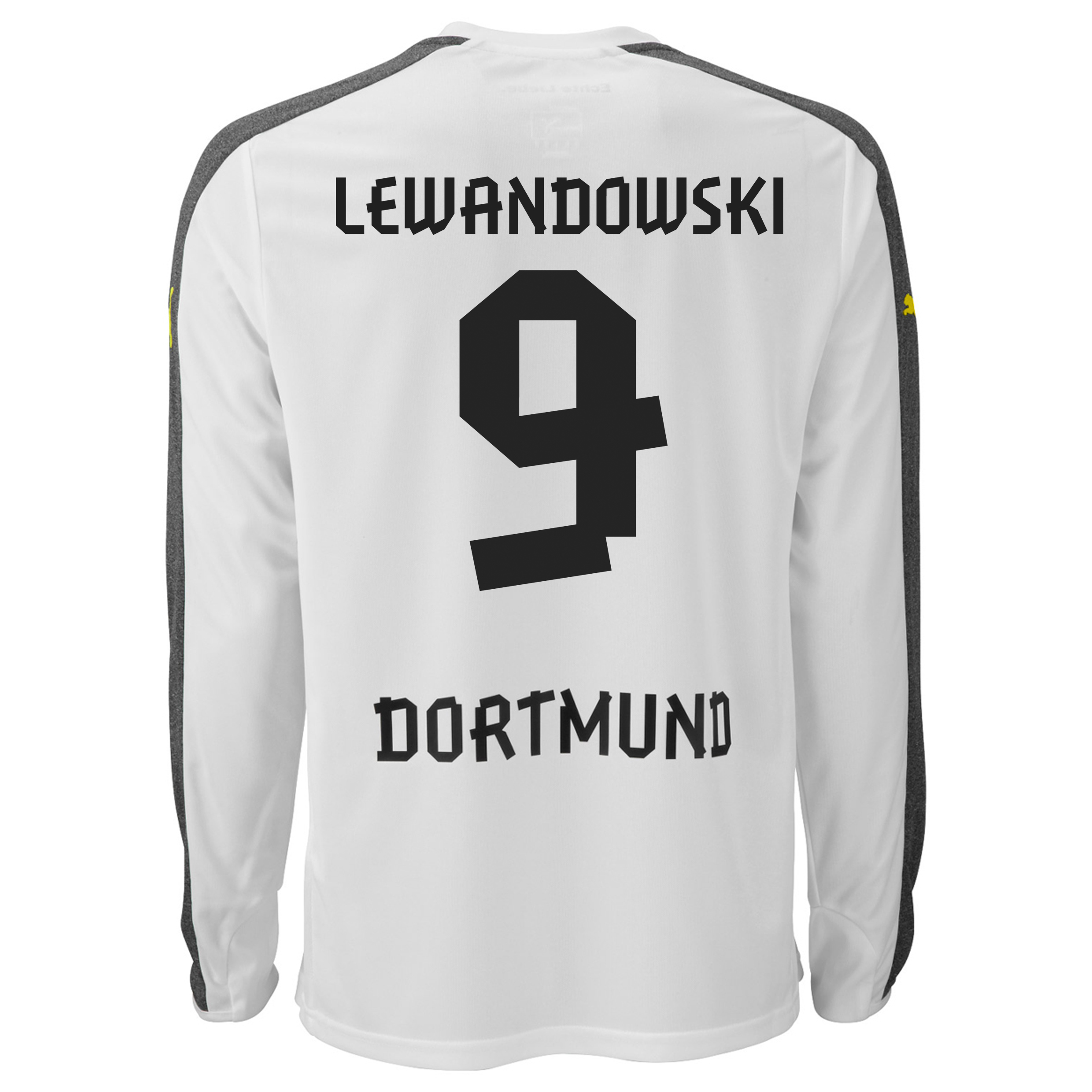 BVB Third Shirt 2013/14 - Long Sleeve with Lewandowski 9 printing