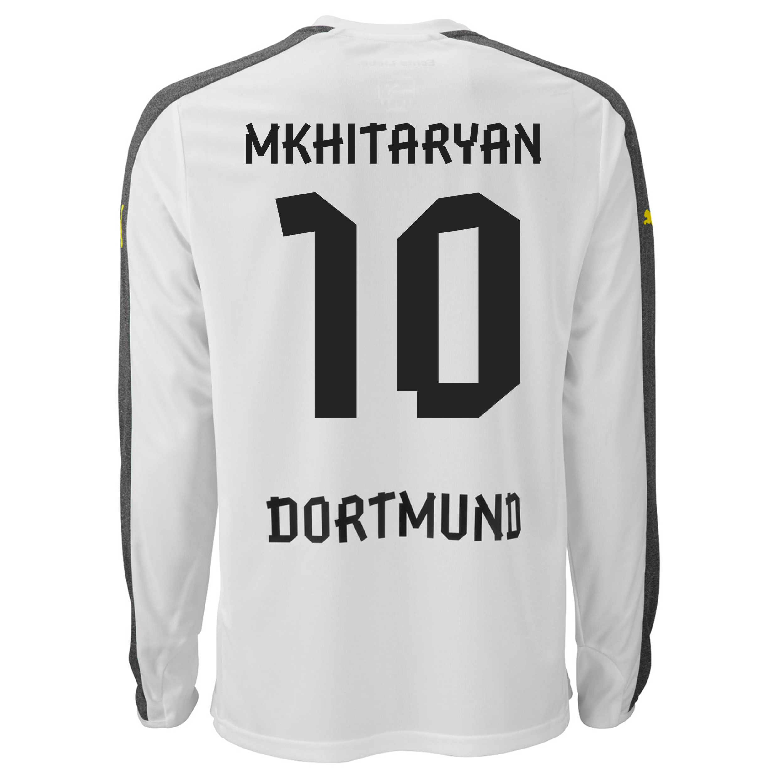 BVB Third Shirt 2013/14 - Long Sleeve with Mkhitaryan 10 printing
