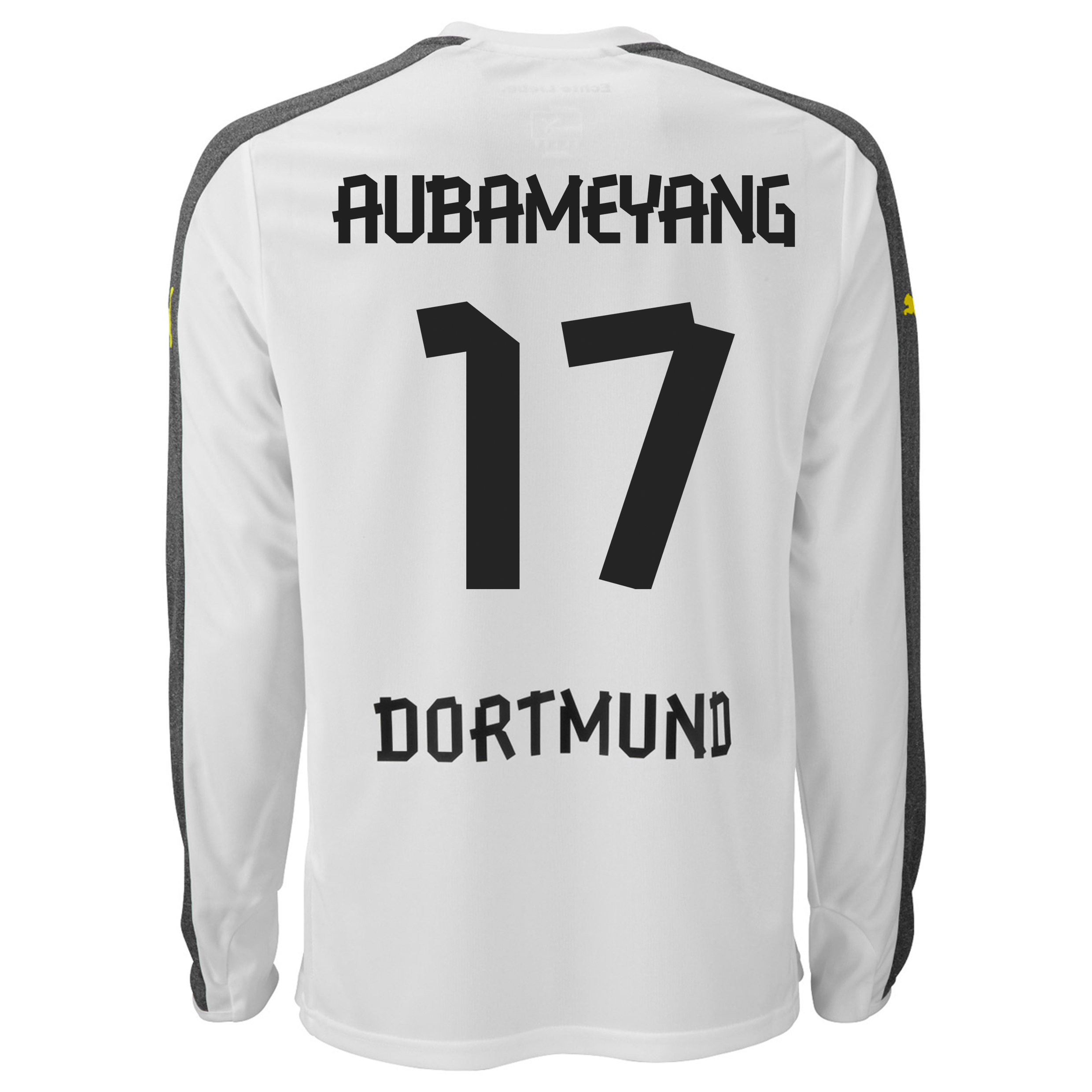 BVB Third Shirt 2013/14 - Long Sleeve with Aubameyang 17 printing