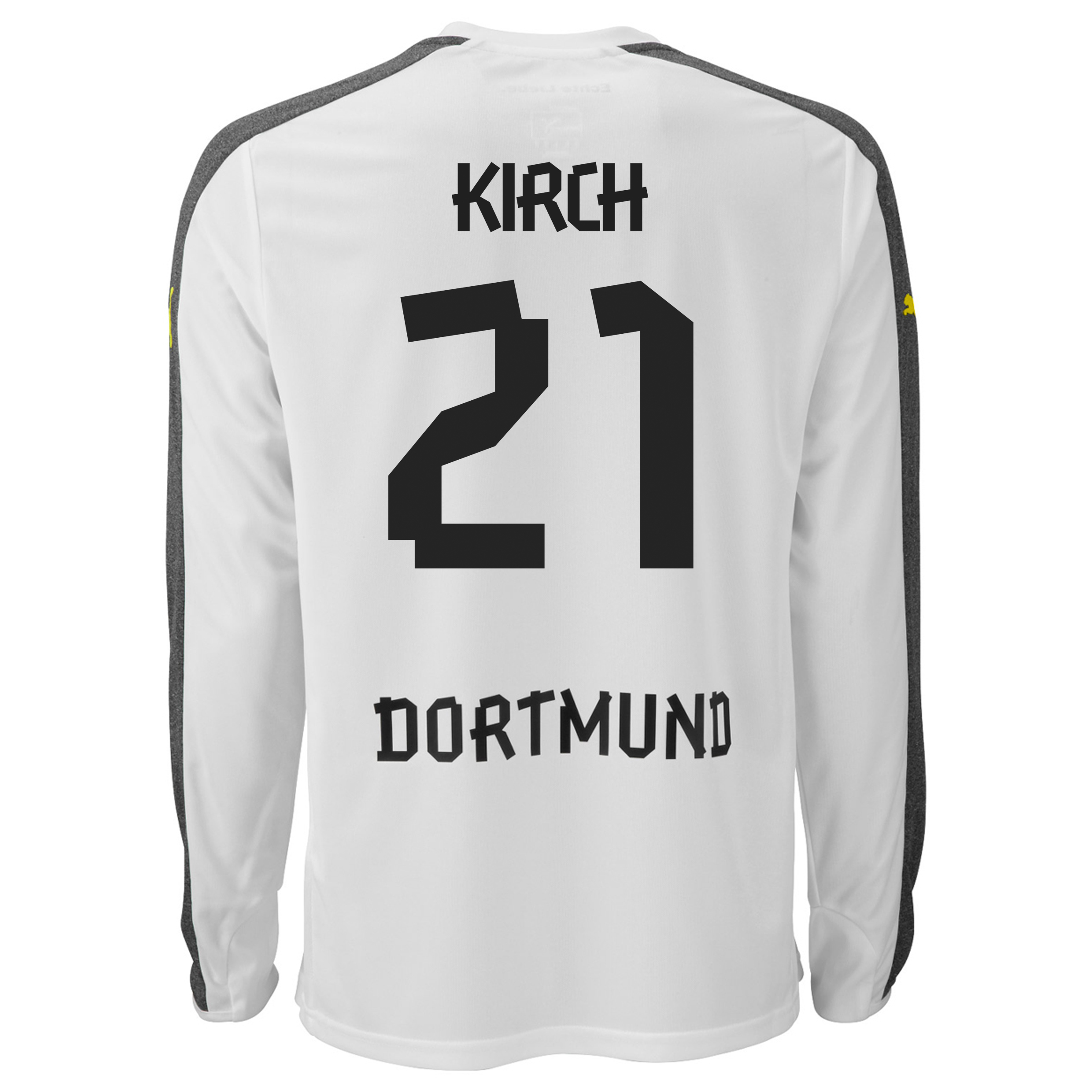 BVB Third Shirt 2013/14 - Long Sleeve with Kirch 21 printing