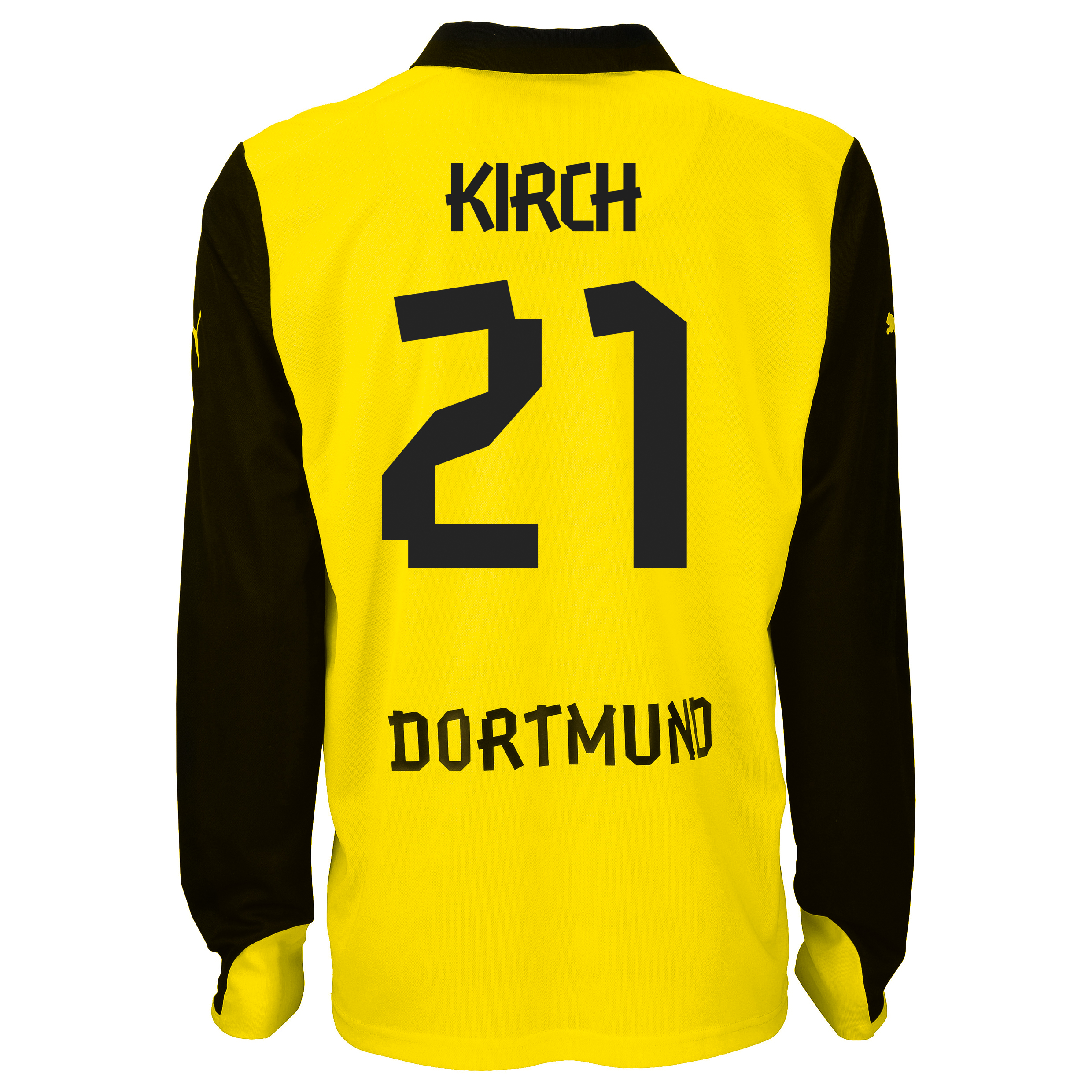 BVB International Home Shirt 2013/14 - Long Sleeve with Kirch 21 printing