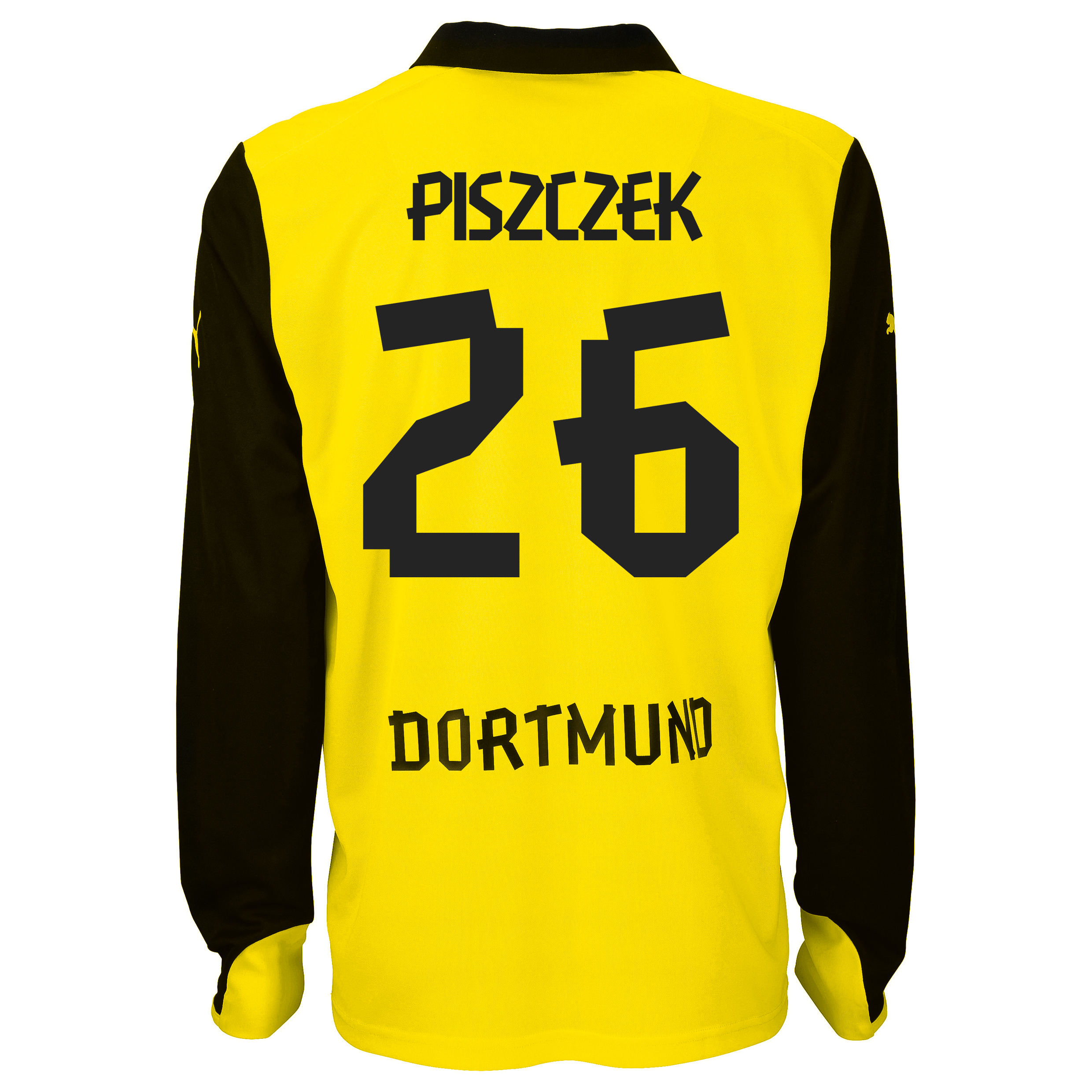 BVB International Home Shirt 2013/14 - Long Sleeve with Piszczek 26 printing