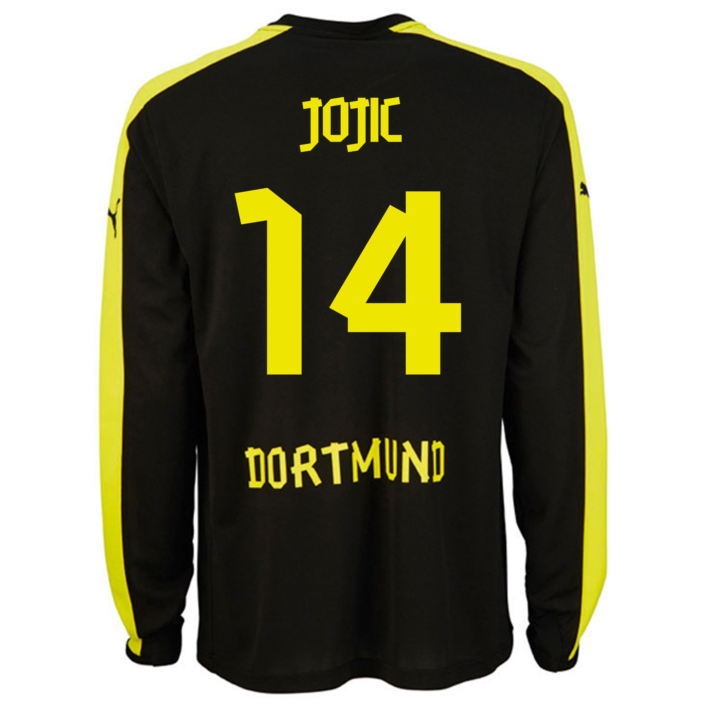 BVB Away Shirt 2013/14 - Long Sleeve with Jojic 14 printing