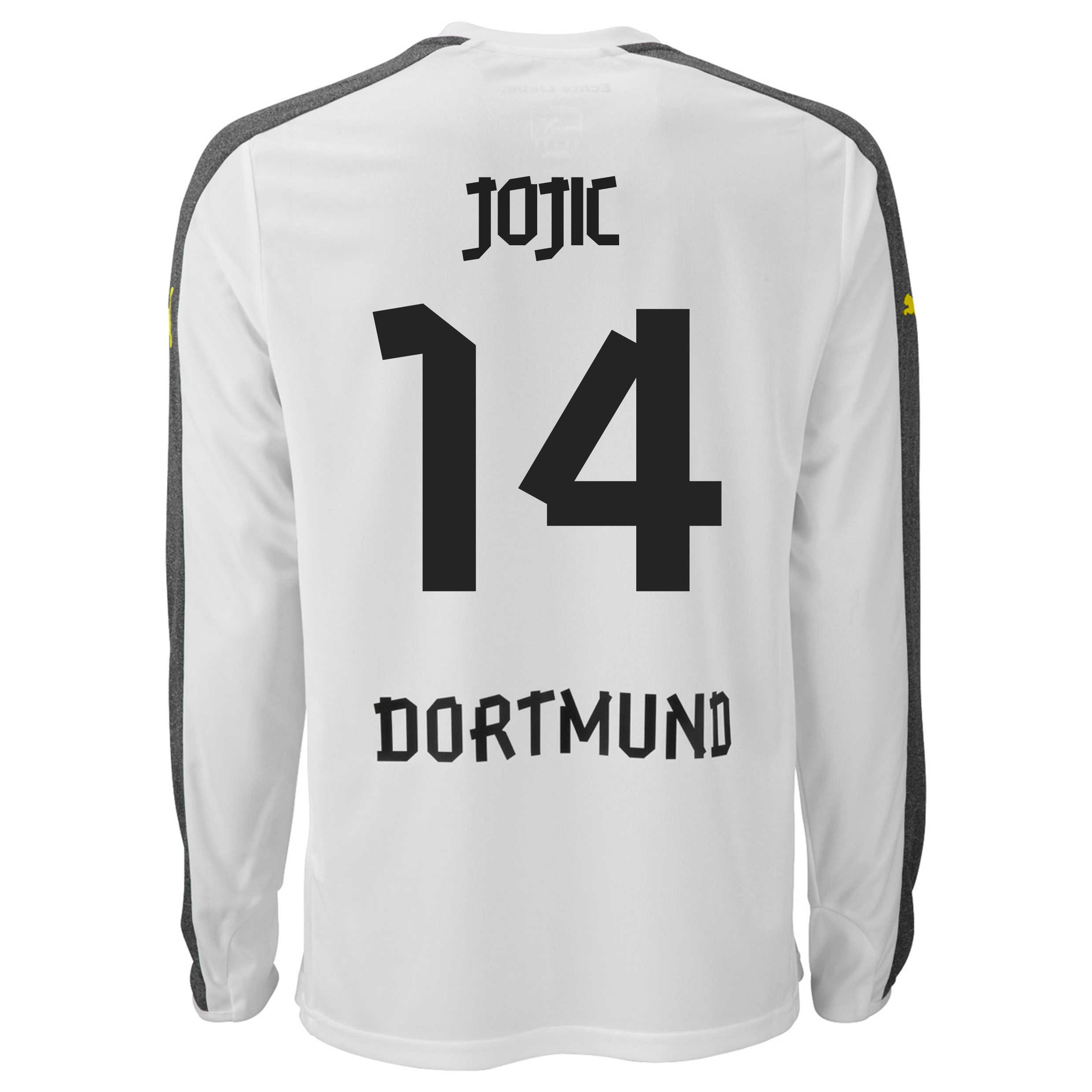 BVB Third Shirt 2013/15 - Long Sleeve with Jojic 14 printing