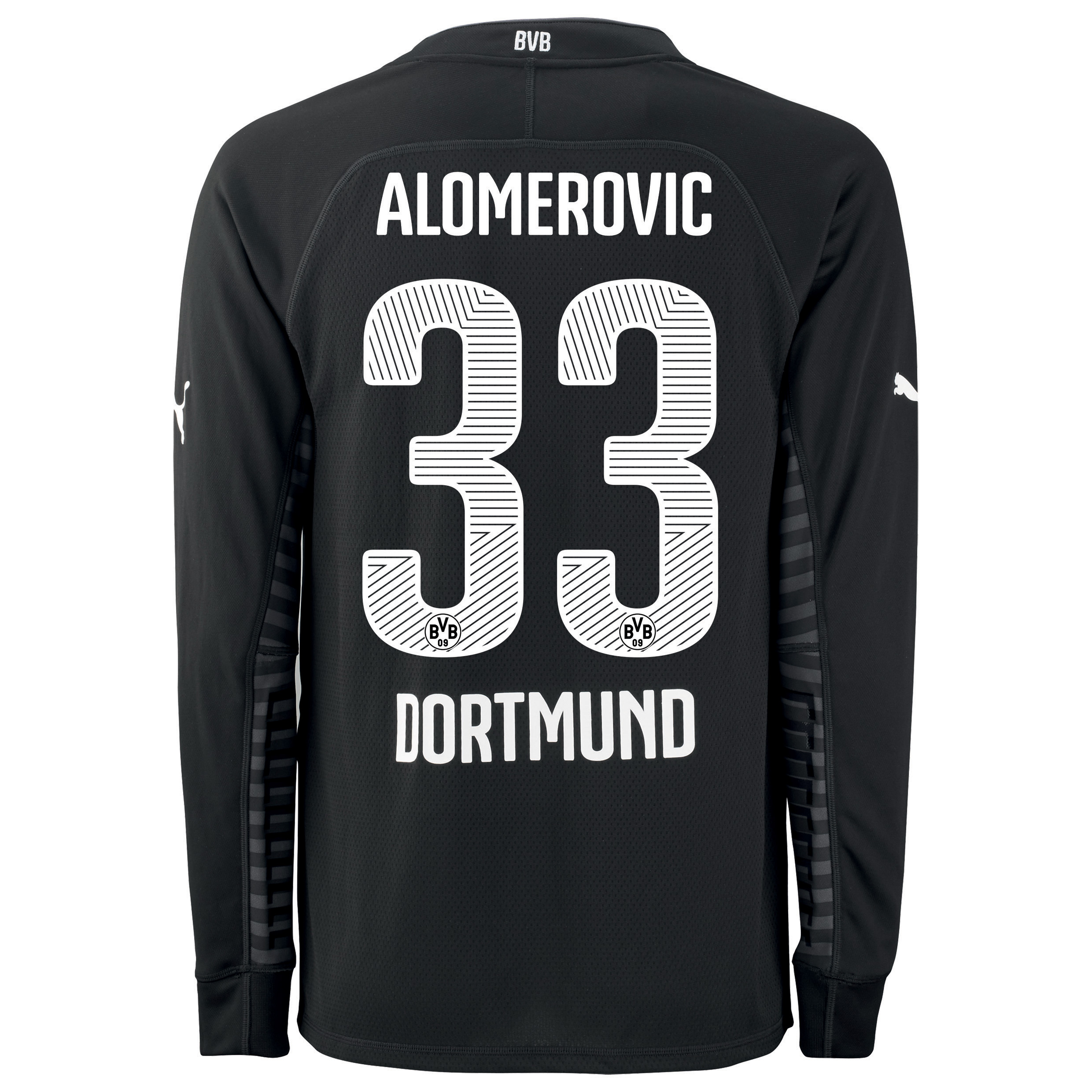 BVB Home Goalkeeper Shirt 2014/15 Black with Alomerovic 33 printing