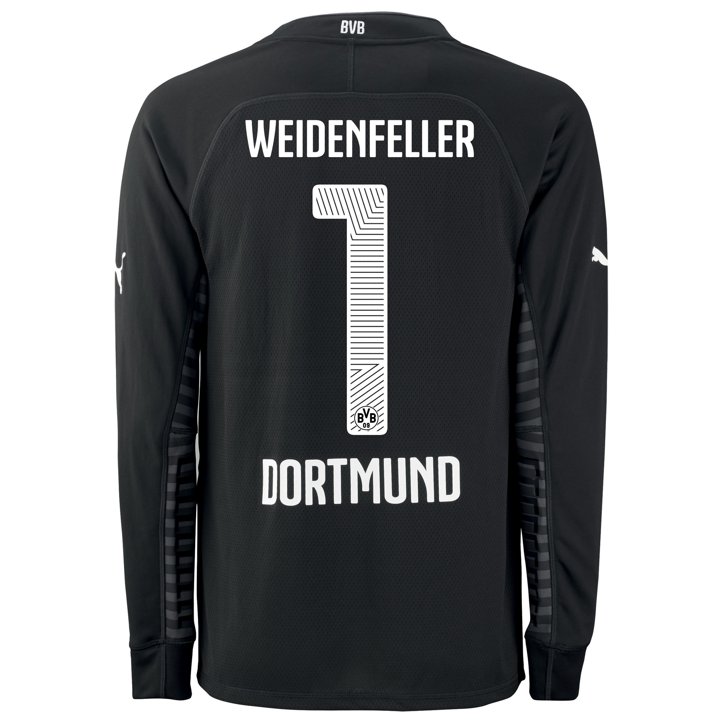 BVB Home Goalkeeper Shirt 2014/15 - Kids Black with Weidenfeller 1 printing