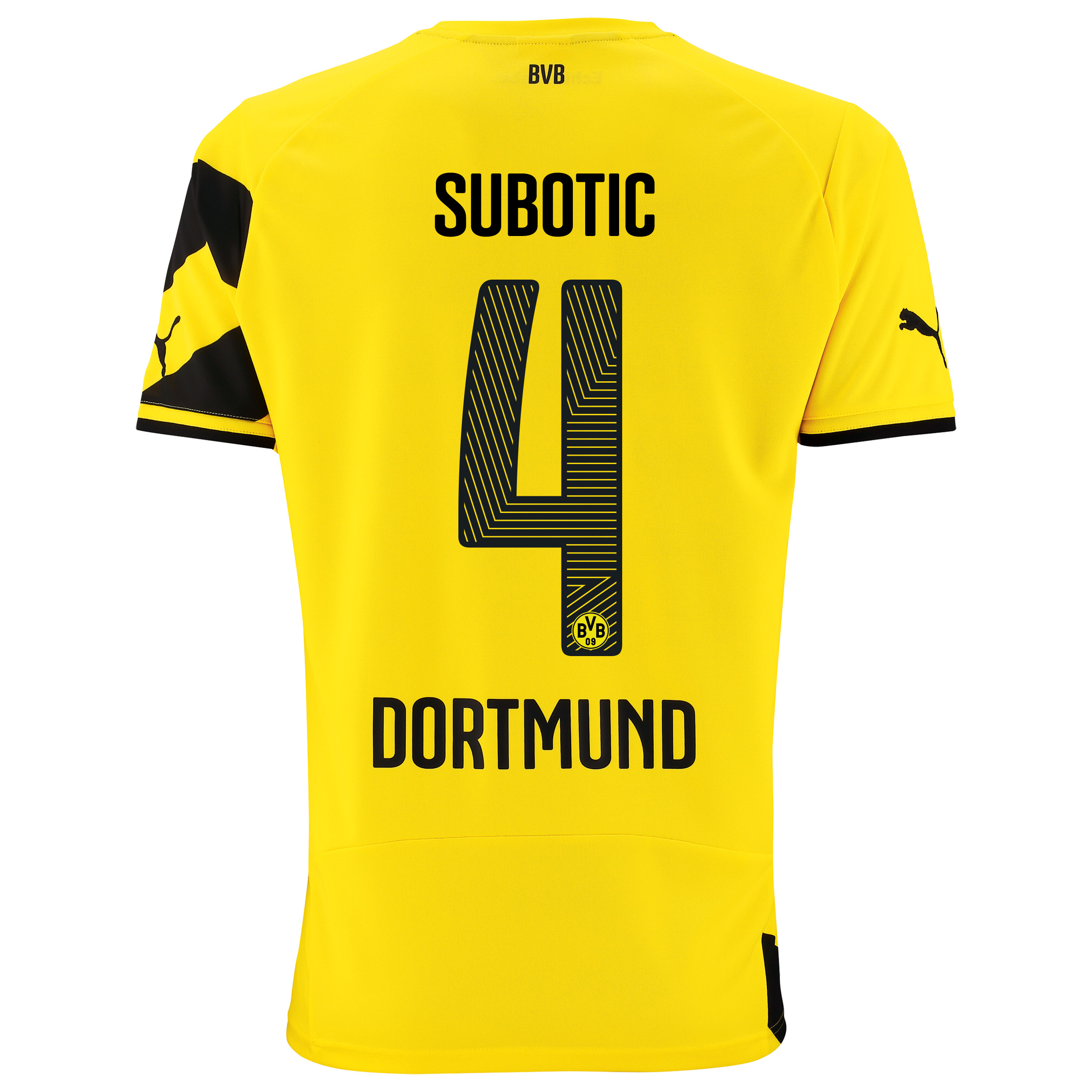 BVB Home Shirt 2014/15 - Kids Yellow with Subotic 4 printing