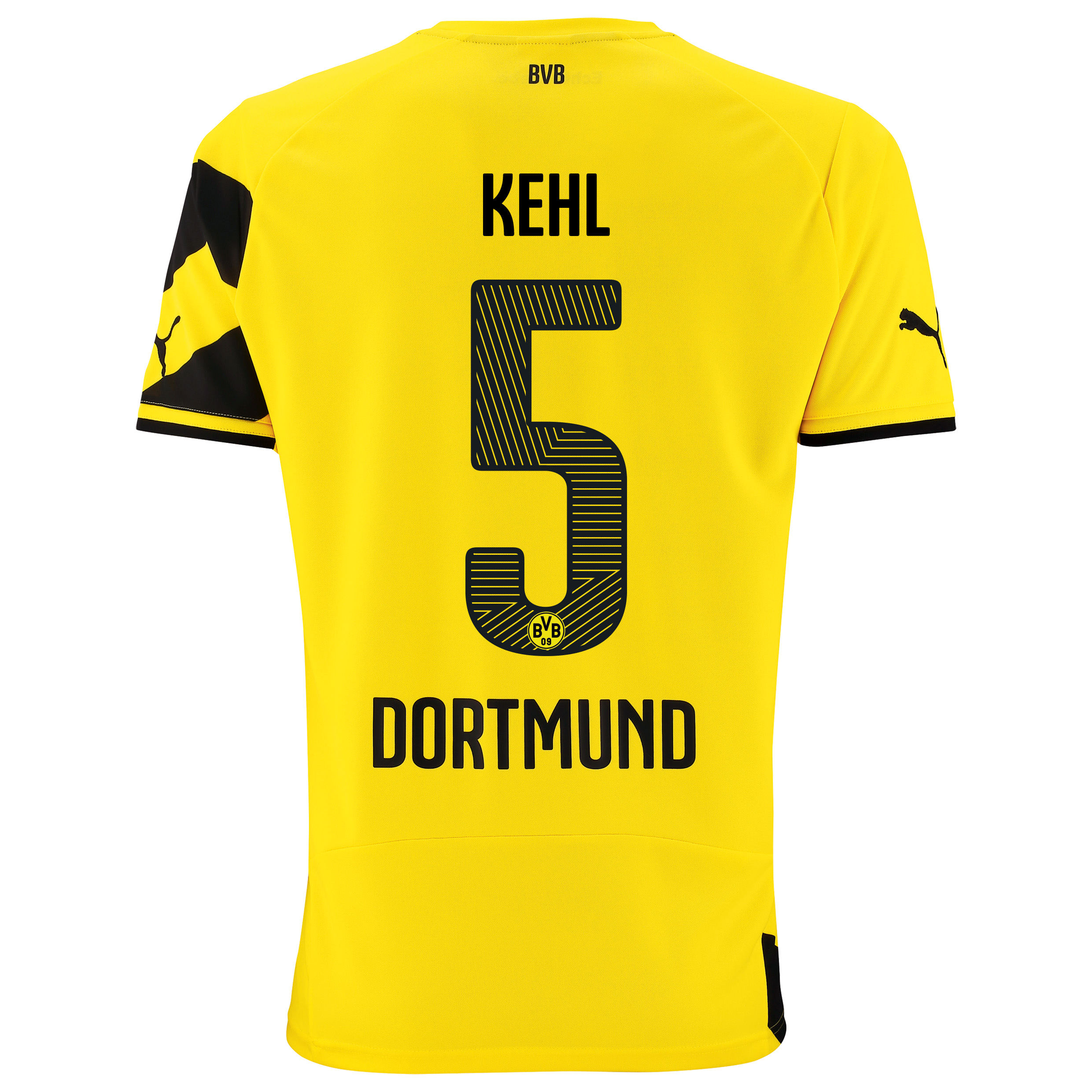 BVB Home Shirt 2014/15 - Kids Yellow with Kehl 5 printing
