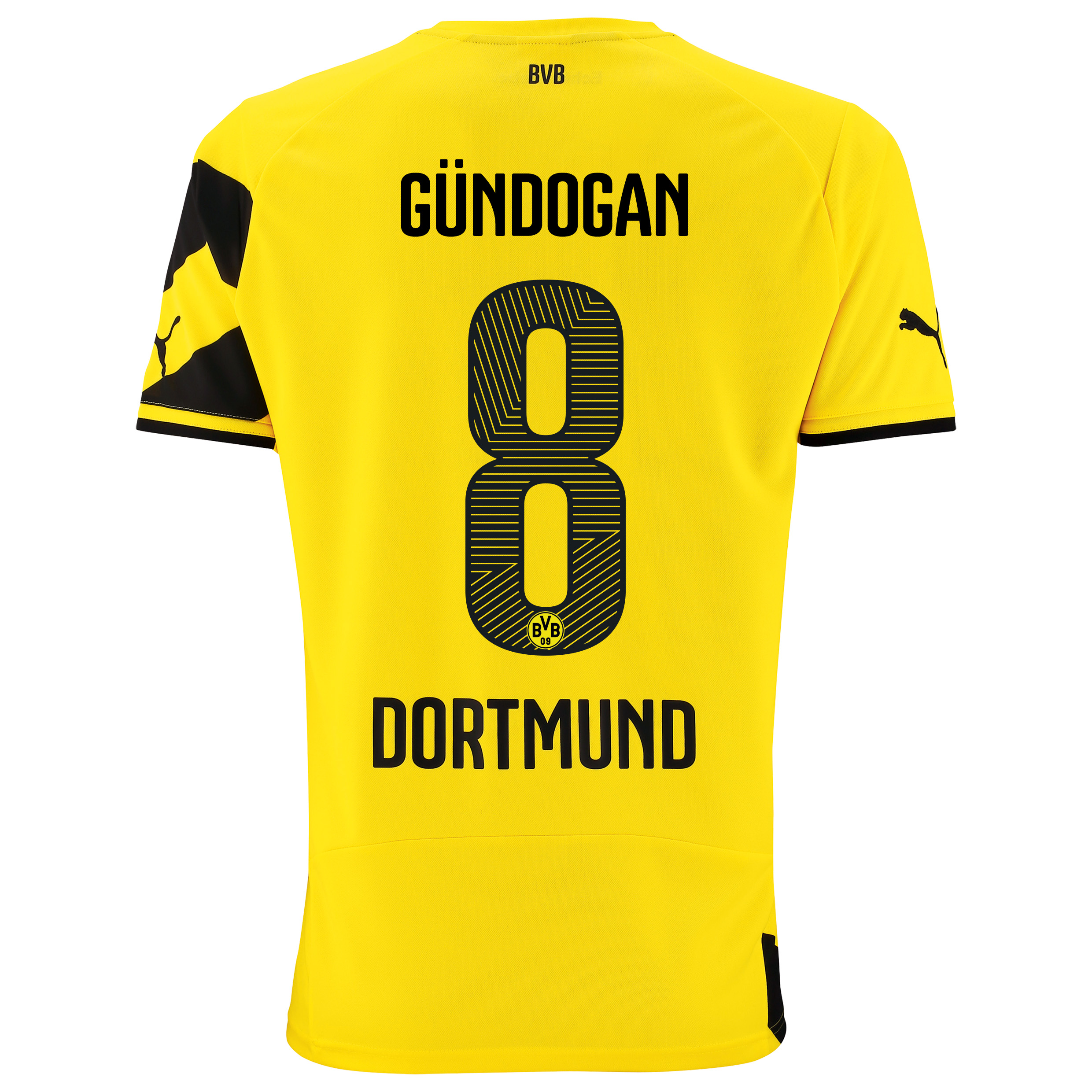 BVB Home Shirt 2014/15 - Kids Yellow with Gündogan 8 printing