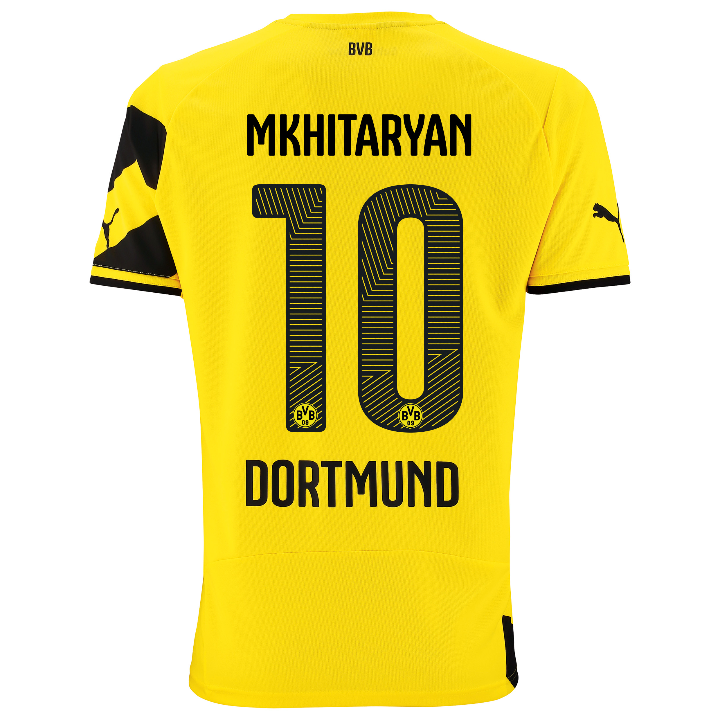BVB Home Shirt 2014/15 - Kids Yellow with Mkhitaryan 10 printing