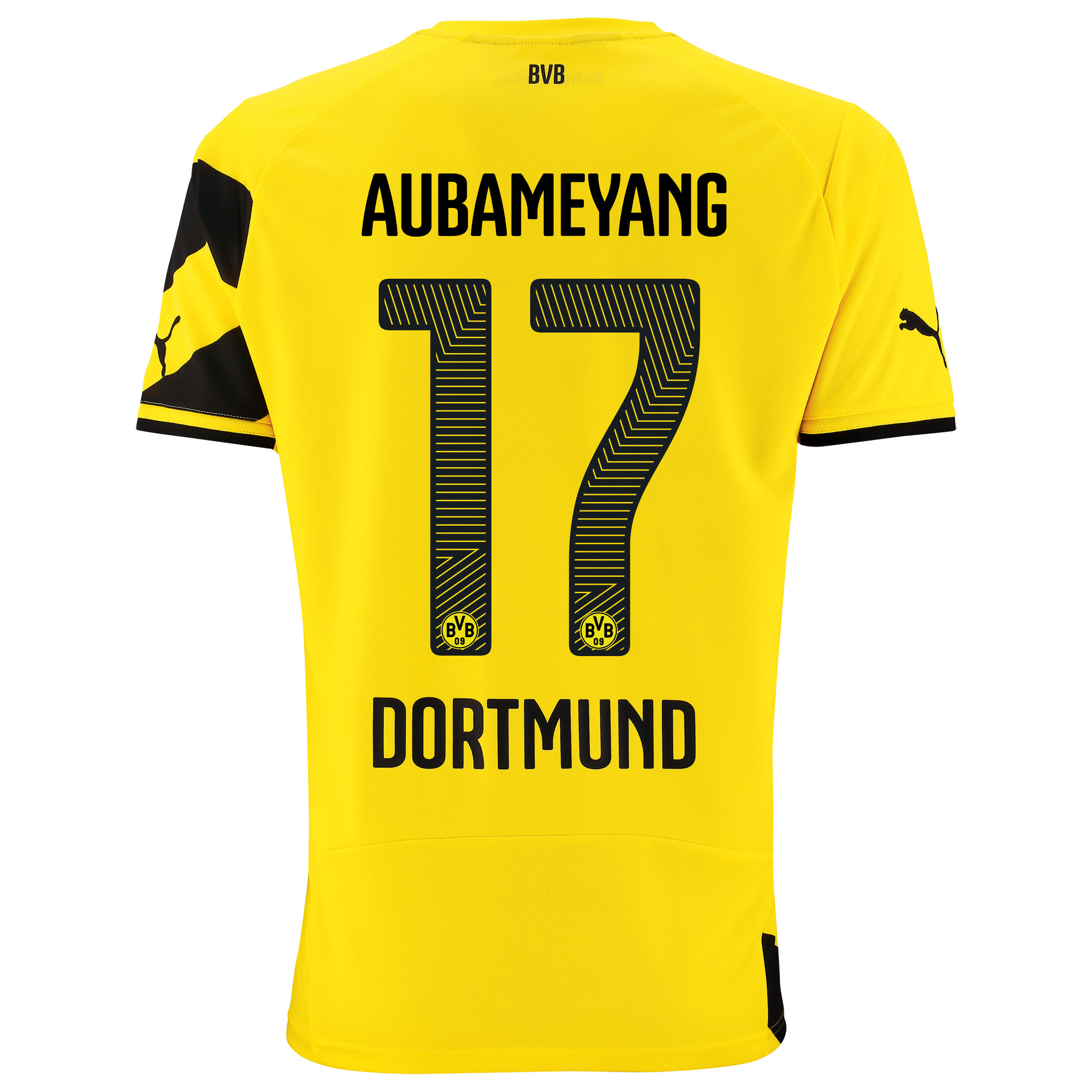 BVB Home Shirt 2014/15 - Kids Yellow with Aubameyang 17 printing