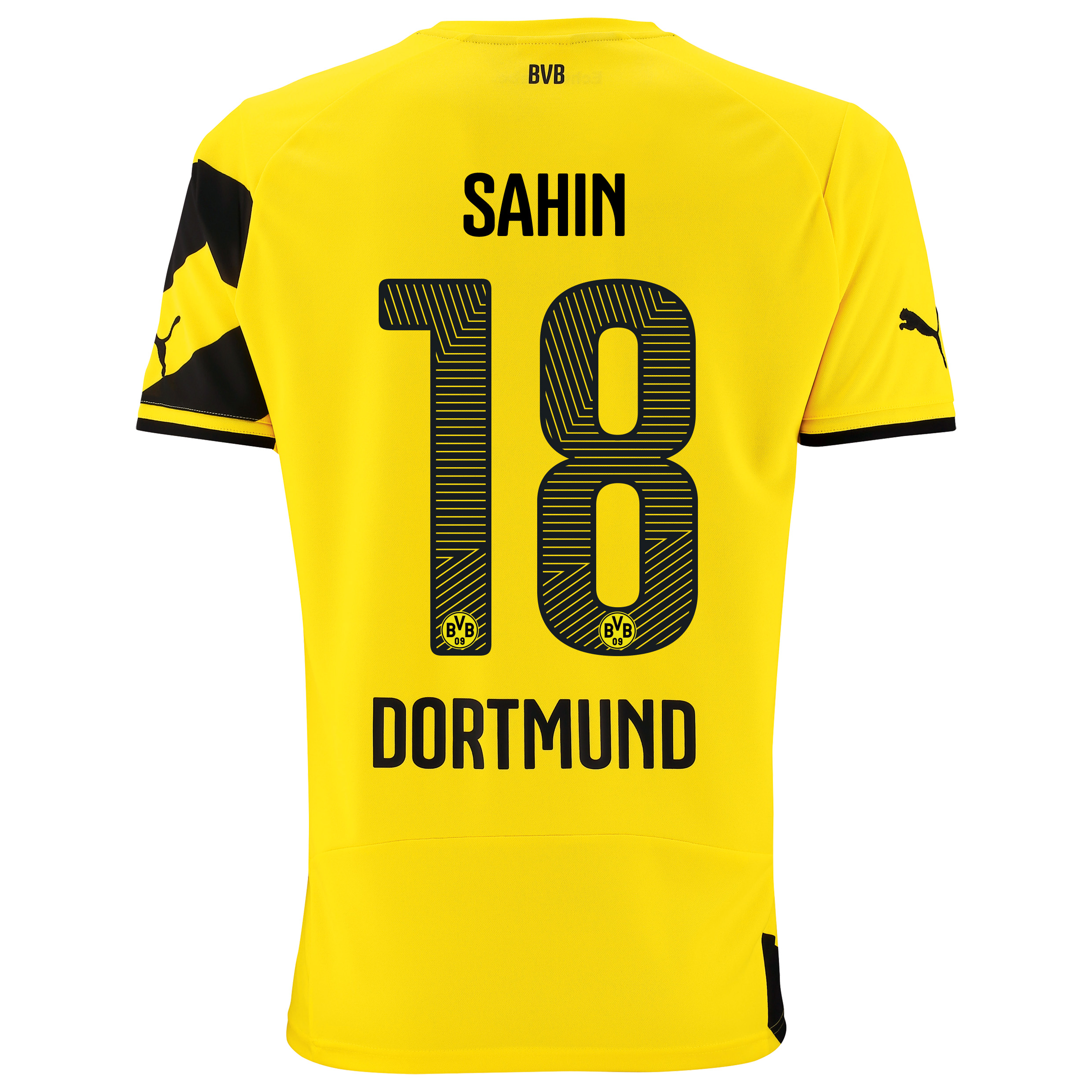 BVB Home Shirt 2014/15 - Kids Yellow with Sahin 18 printing