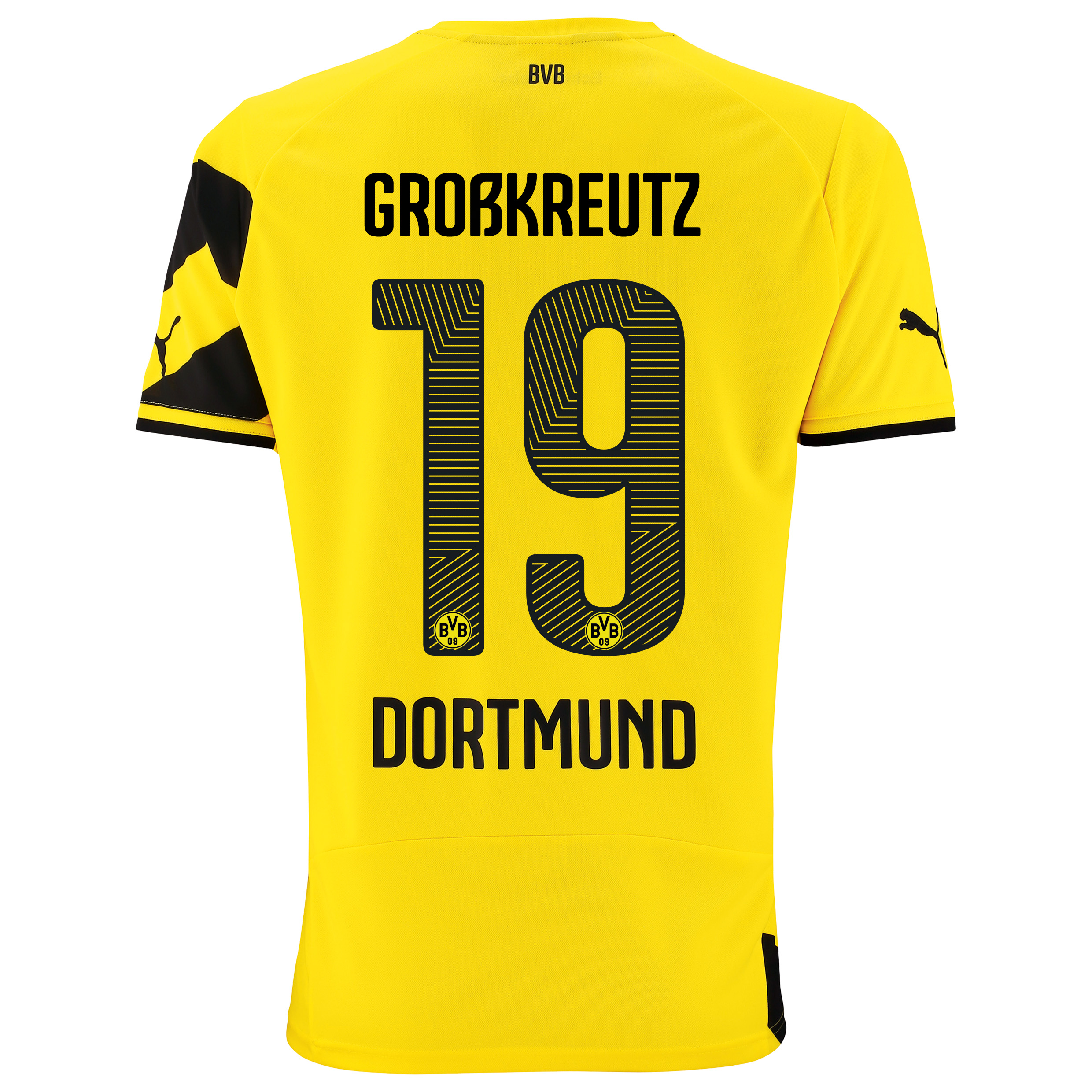 BVB Home Shirt 2014/15 - Kids Yellow with Großkreutz 19 printing