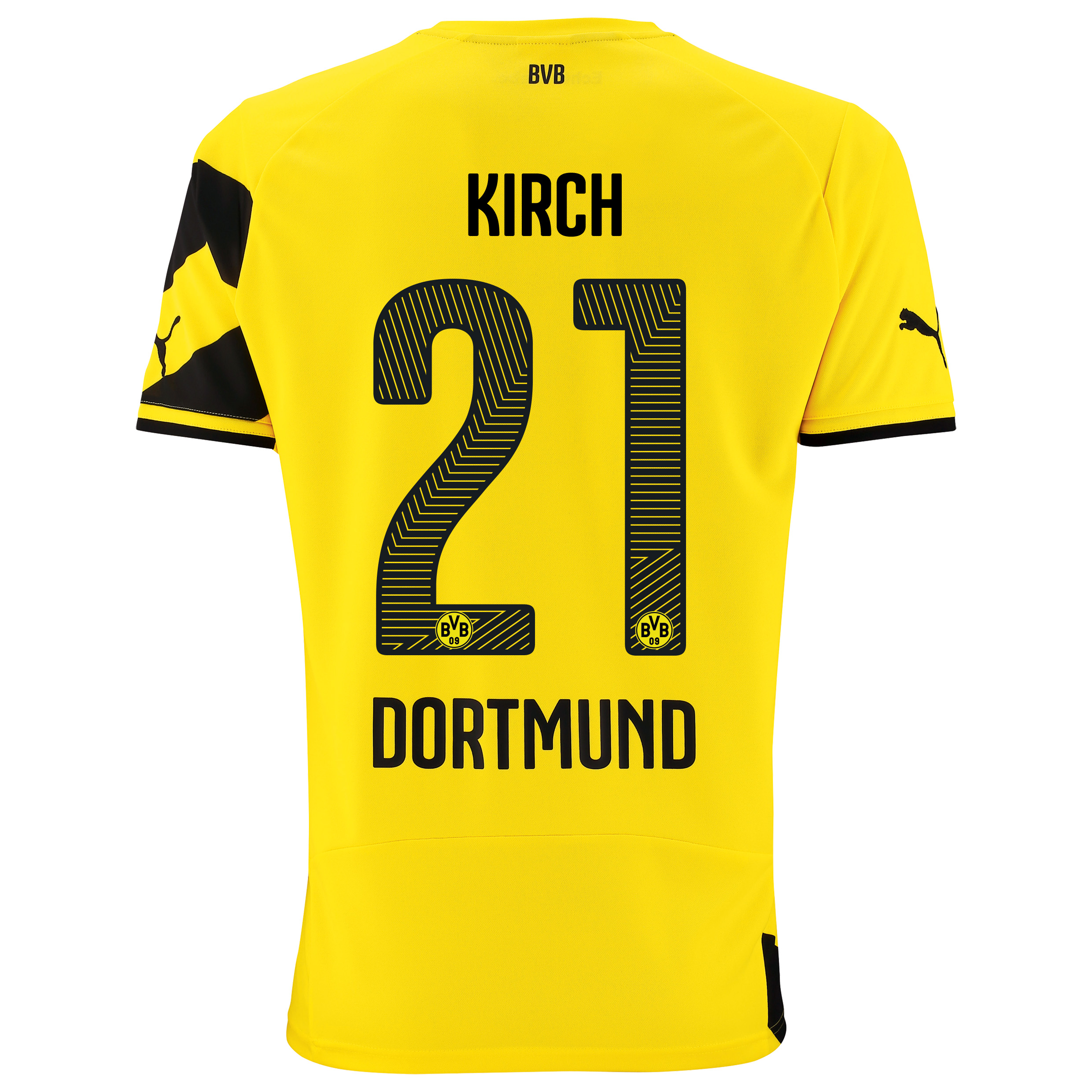 BVB Home Shirt 2014/15 - Kids Yellow with Kirch 21 printing