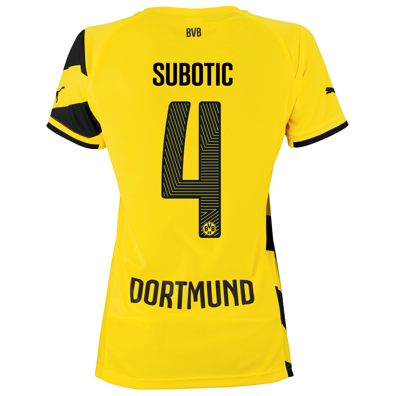 BVB Home Shirt 2014/15 - Womens Yellow with Subotic 4 printing